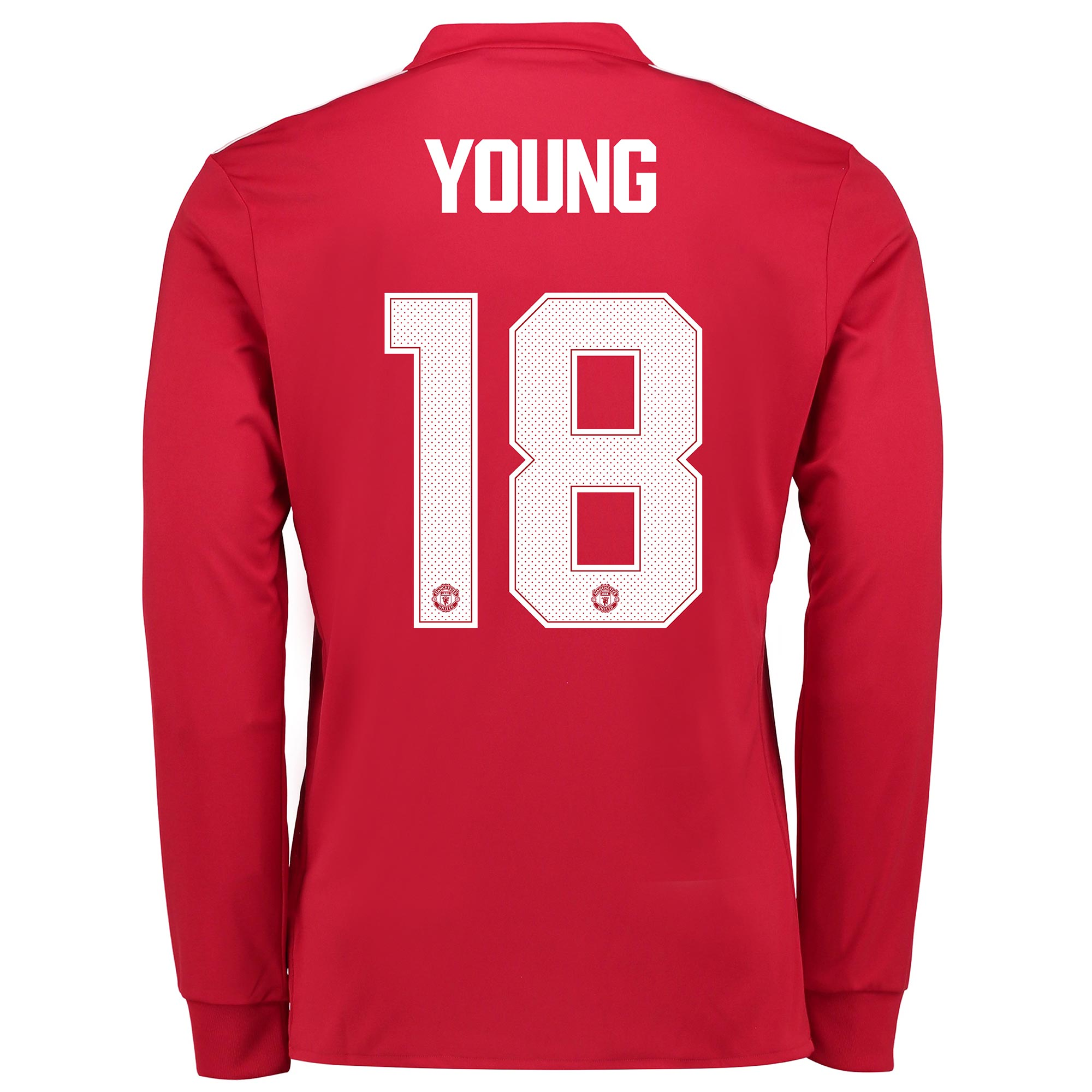 Manchester United Home Cup Shirt 2017-18 - Long Sleeve with Young 18 p