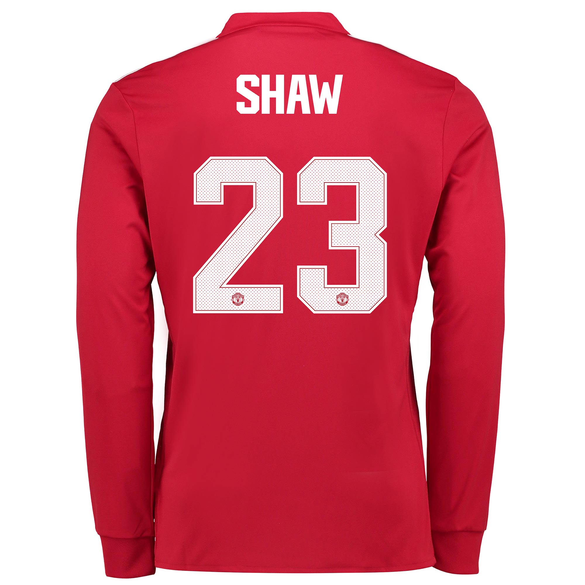 Manchester United Home Cup Shirt 2017-18 - Long Sleeve with Shaw 23 pr