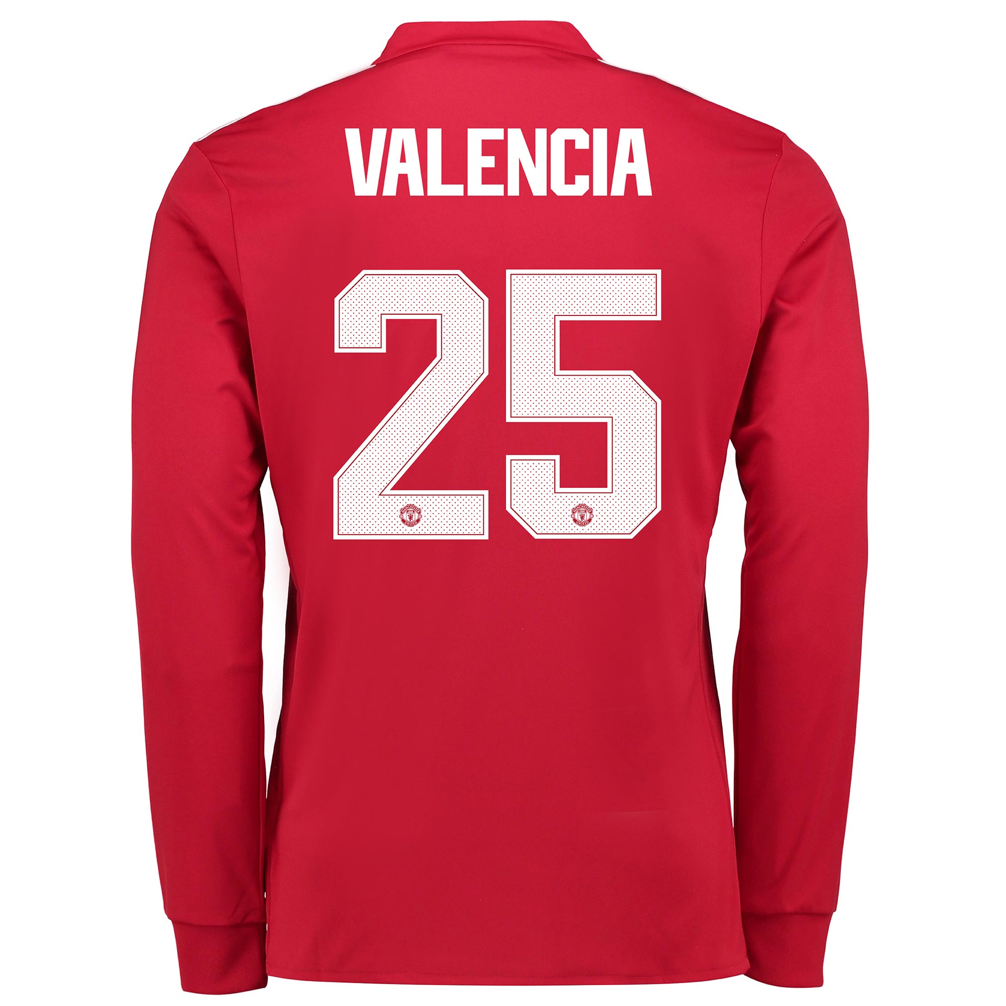 Manchester United Home Cup Shirt 2017-18 - Long Sleeve with Valencia 2