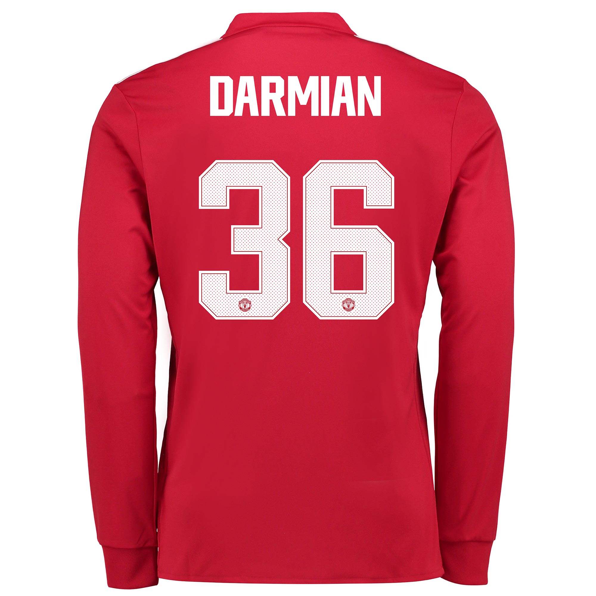 Manchester United Home Cup Shirt 2017-18 - Long Sleeve with Darmian 36