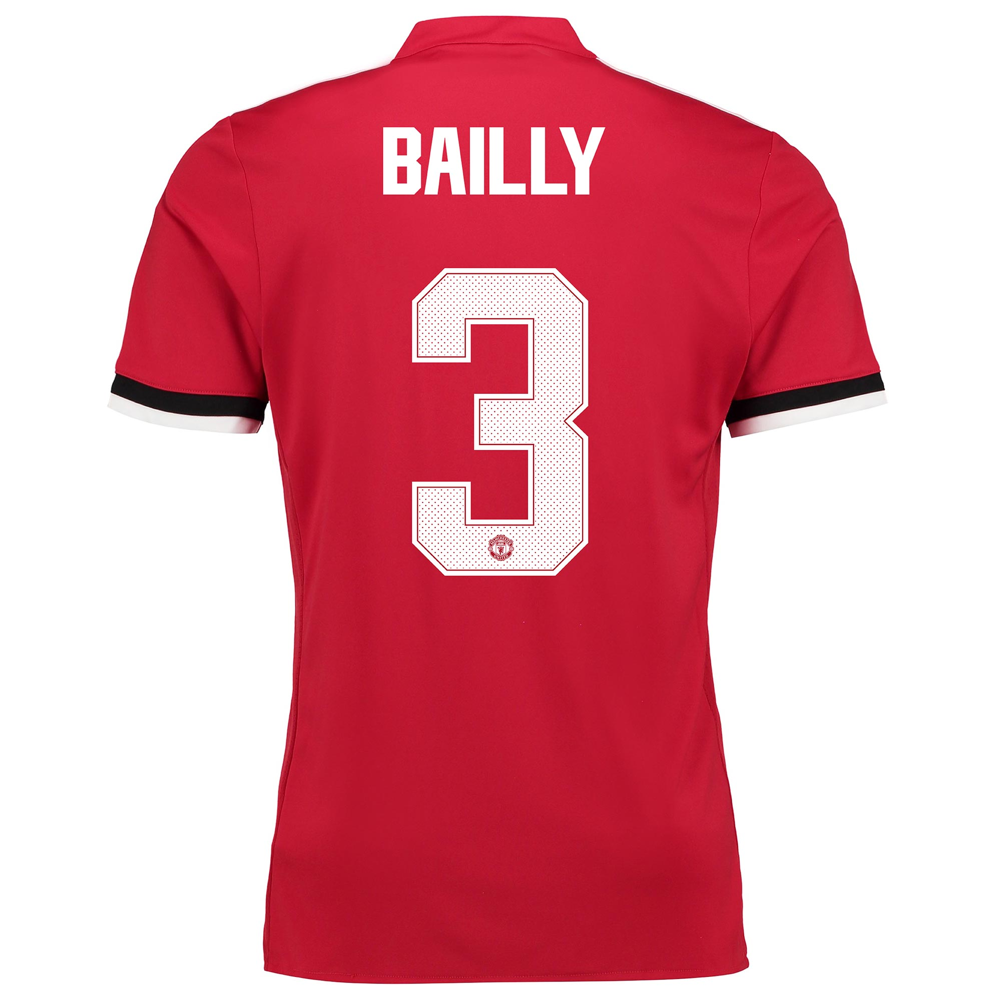 Manchester United Home Cup Shirt 2017-18 - Kids with Bailly 3 printing