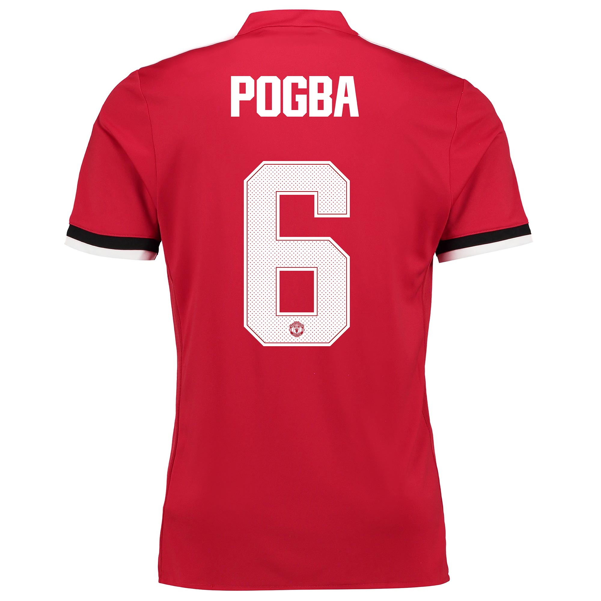 Manchester United Home Cup Shirt 2017-18 - Kids with Pogba 6 printing