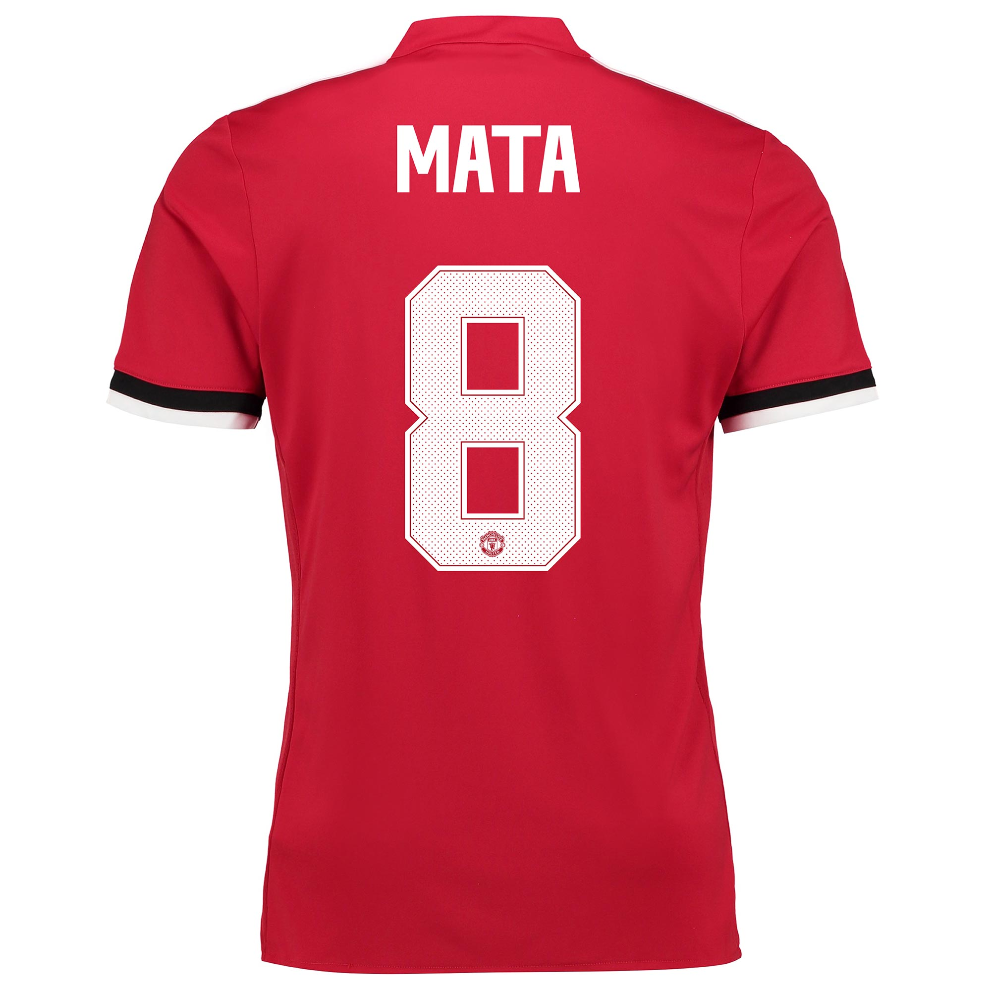 Manchester United Home Cup Shirt 2017-18 - Kids with Mata 8 printing