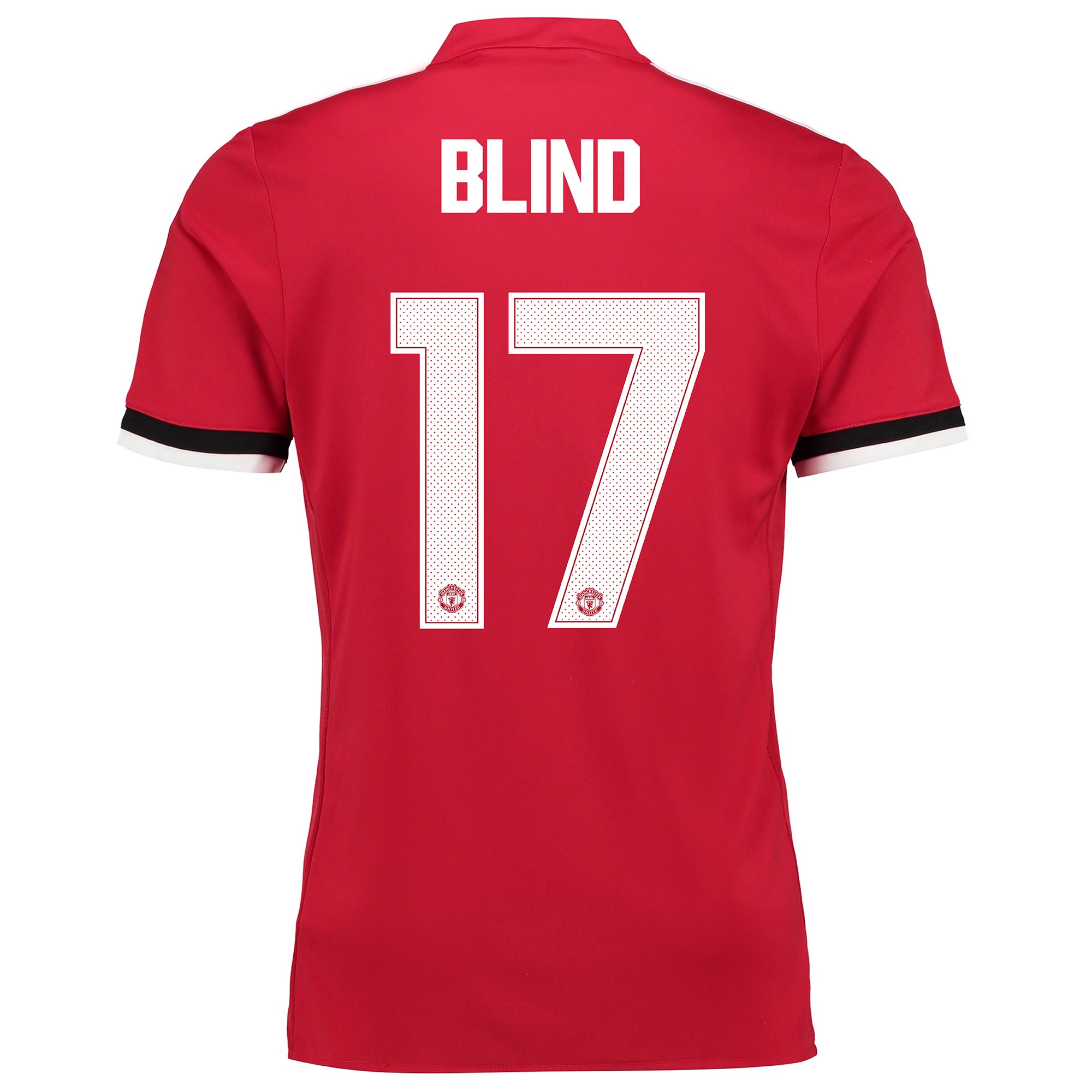 Manchester United Home Cup Shirt 2017-18 - Kids with Blind 17 printing
