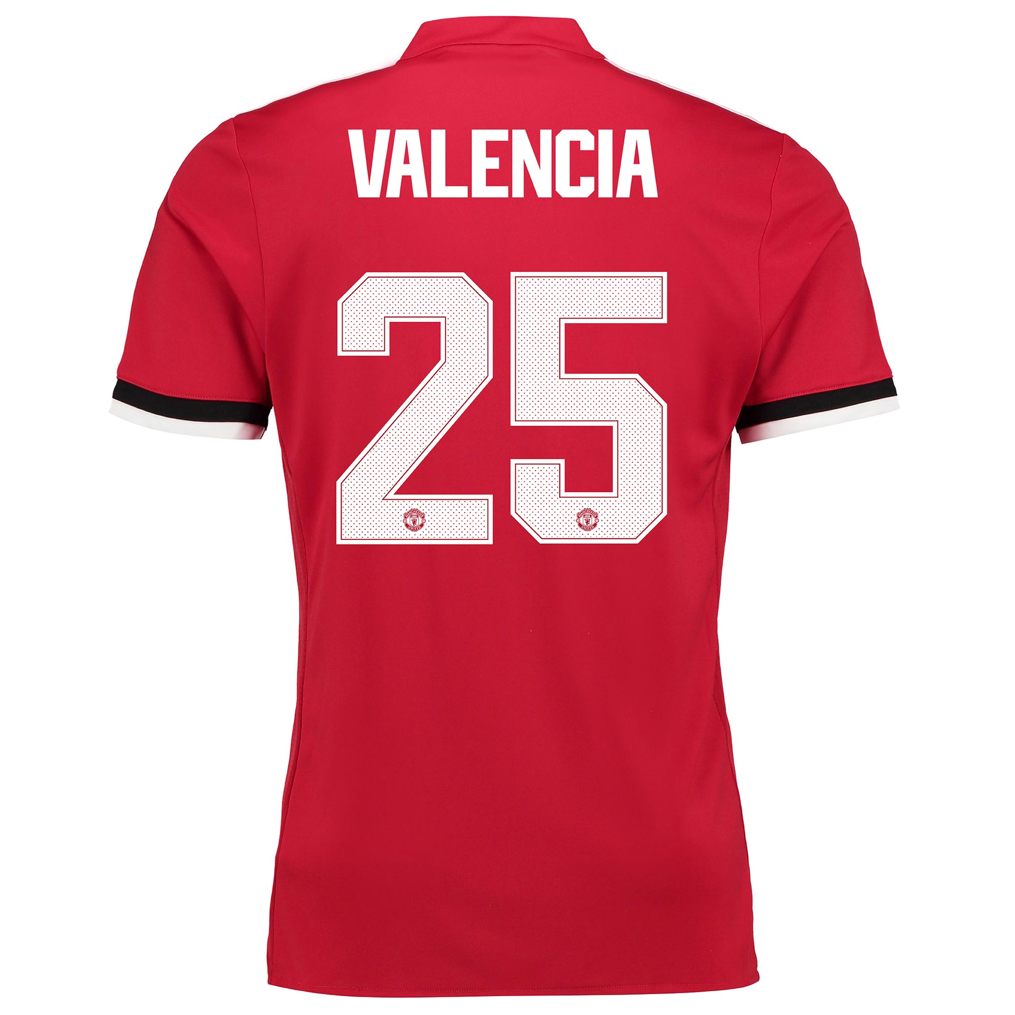 Manchester United Home Cup Shirt 2017-18 - Kids with Valencia 25 print