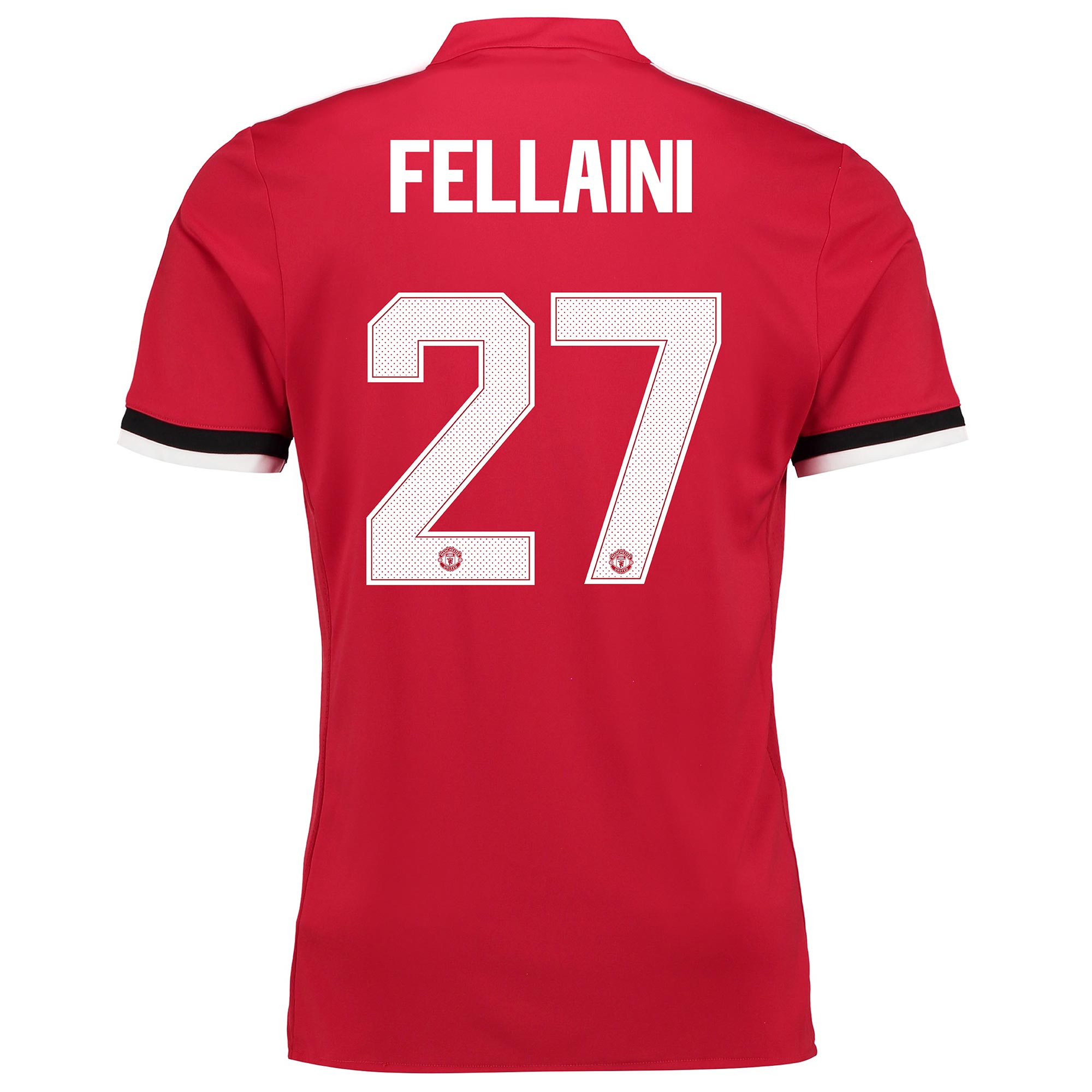 Manchester United Home Cup Shirt 2017-18 - Kids with Fellaini 27 print