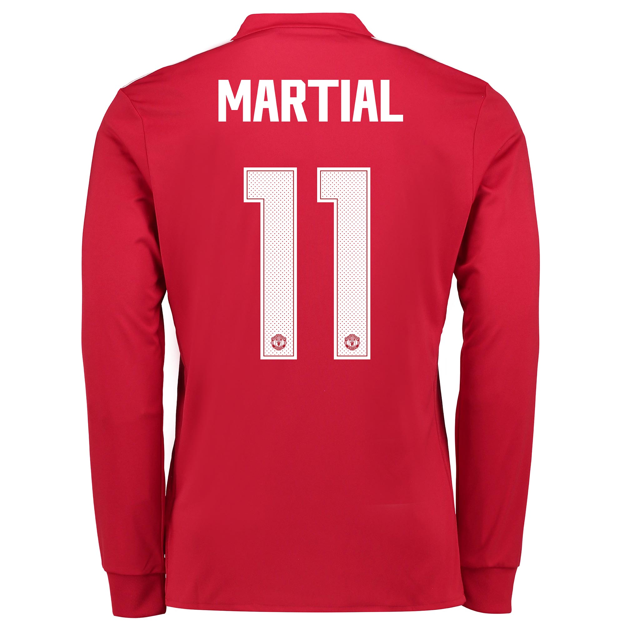 Manchester United Home Cup Shirt 2017-18 - Kids - Long Sleeve with Mar