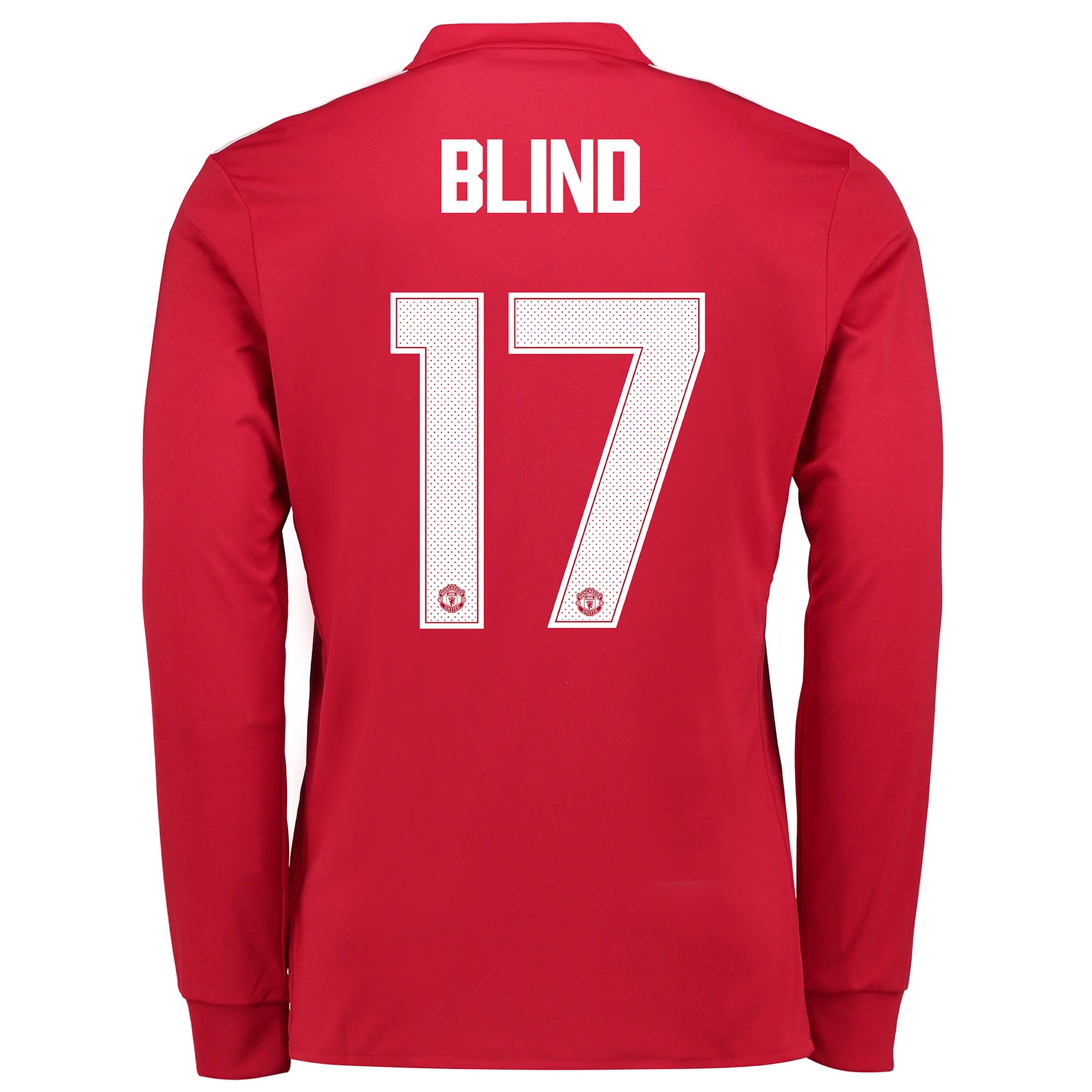 Manchester United Home Cup Shirt 2017-18 - Kids - Long Sleeve with Bli