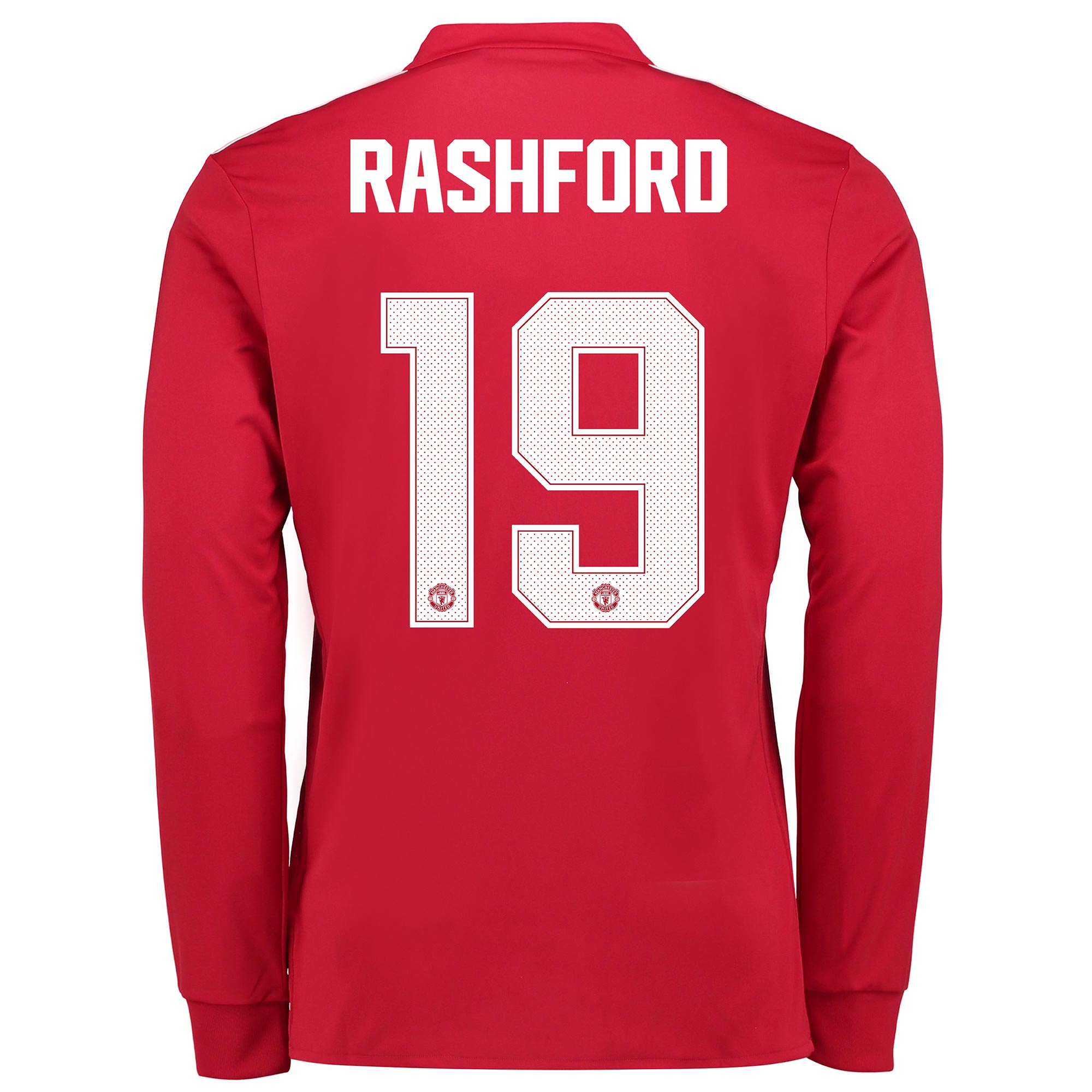 Manchester United Home Cup Shirt 2017-18 - Kids - Long Sleeve with Ras