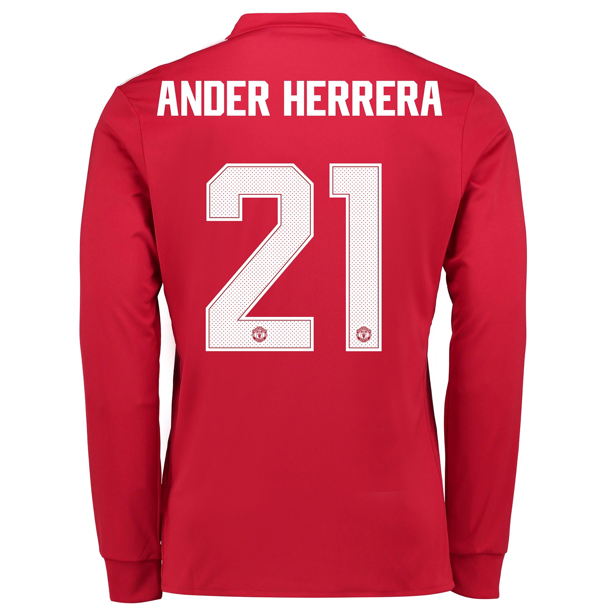 Manchester United Home Cup Shirt 2017-18 - Kids - Long Sleeve with And