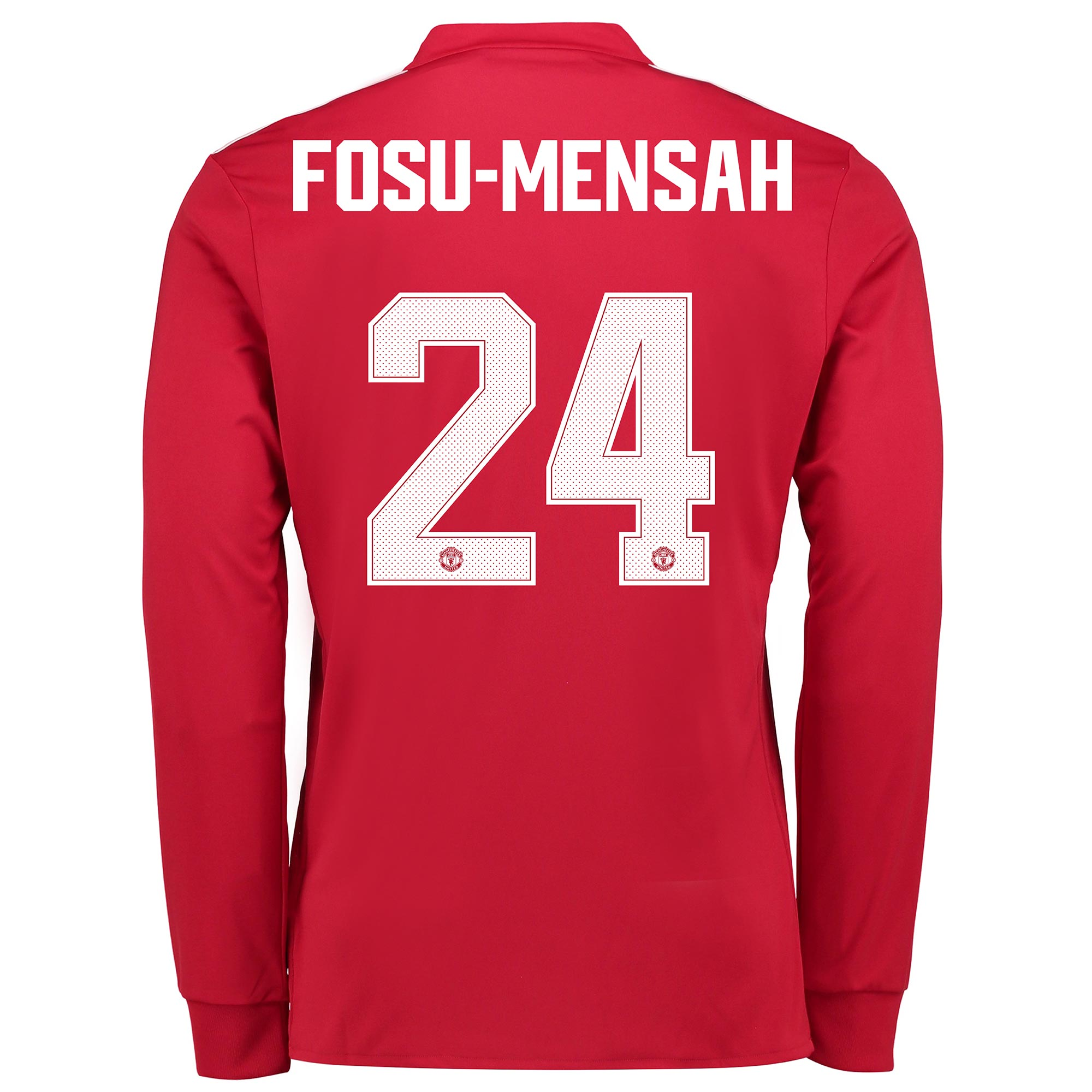 Manchester United Home Cup Shirt 2017-18 - Kids - Long Sleeve with Fos
