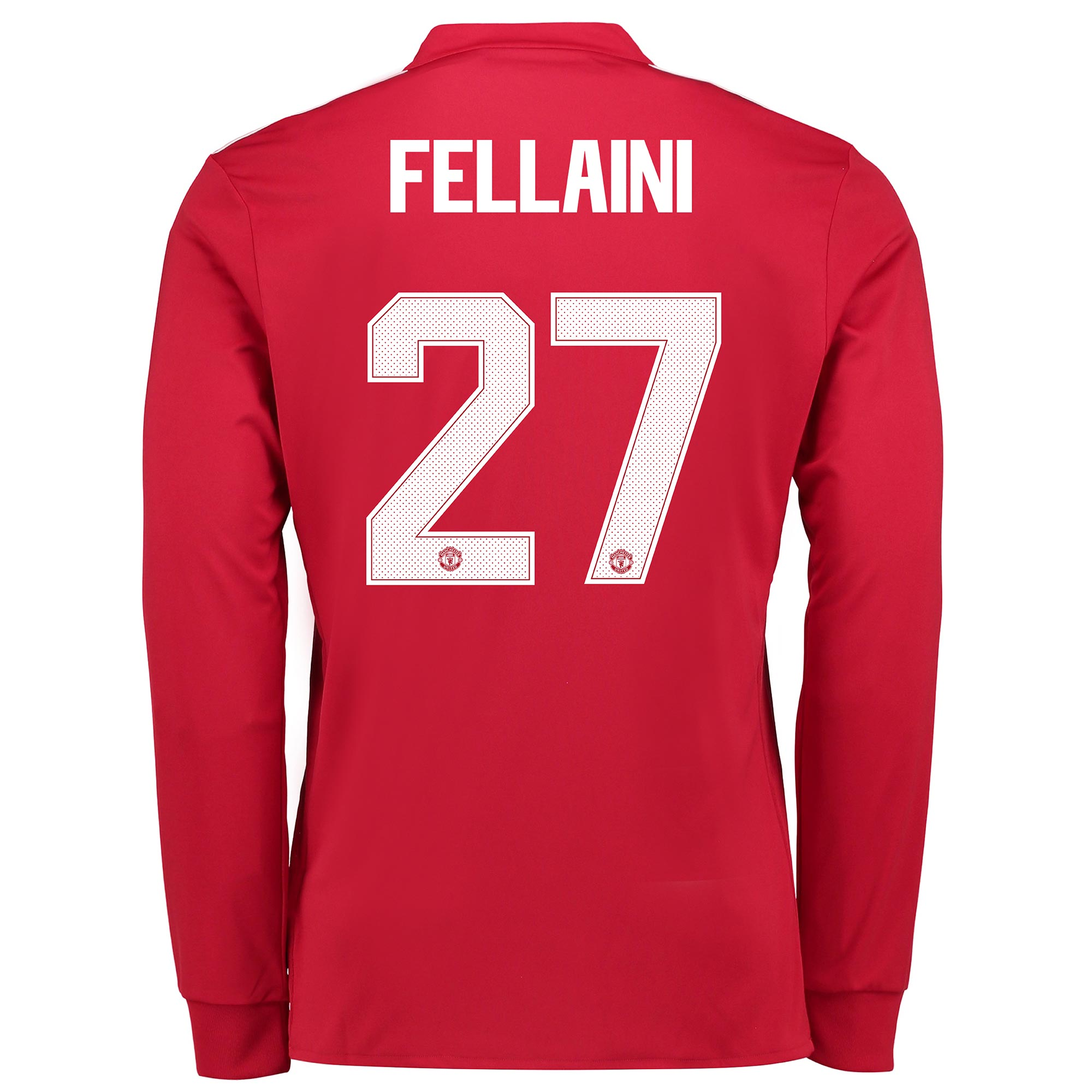 Manchester United Home Cup Shirt 2017-18 - Kids - Long Sleeve with Fel