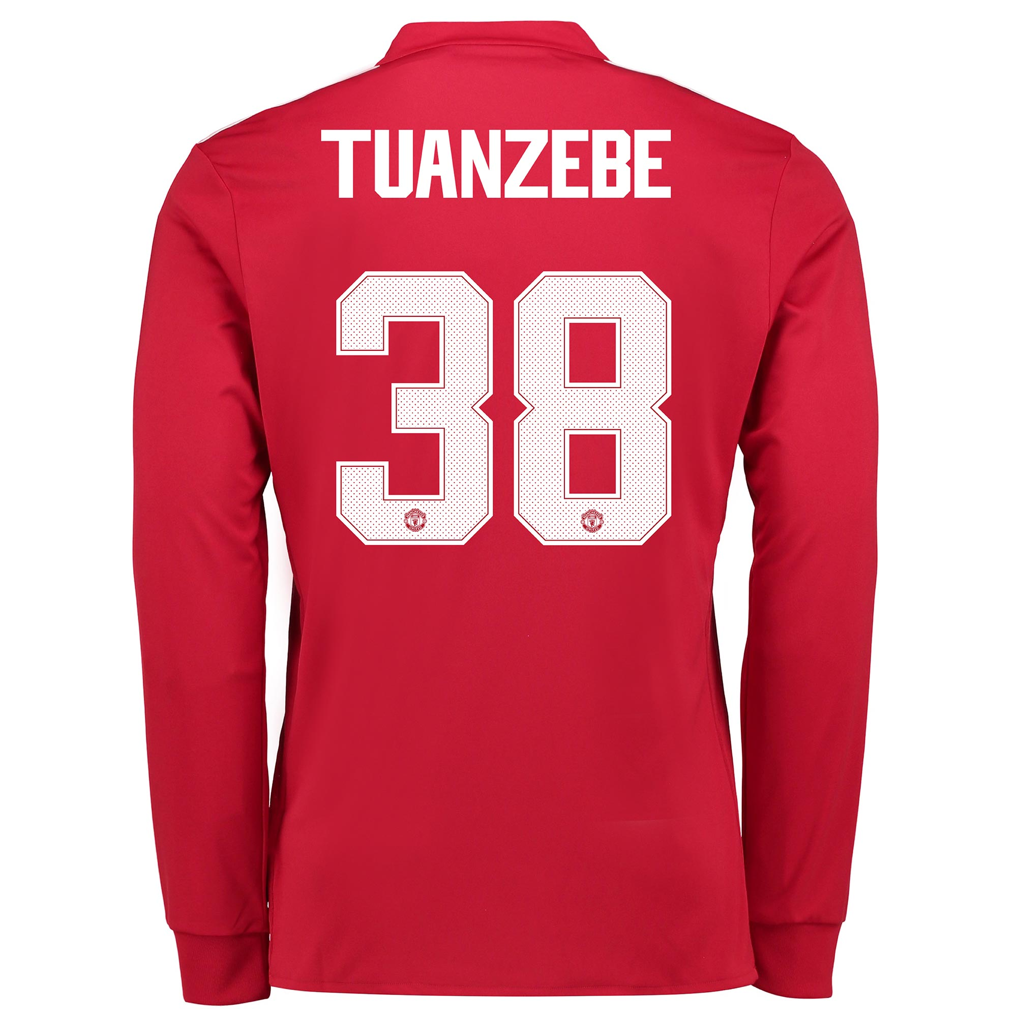 Manchester United Home Cup Shirt 2017-18 - Kids - Long Sleeve with Tua
