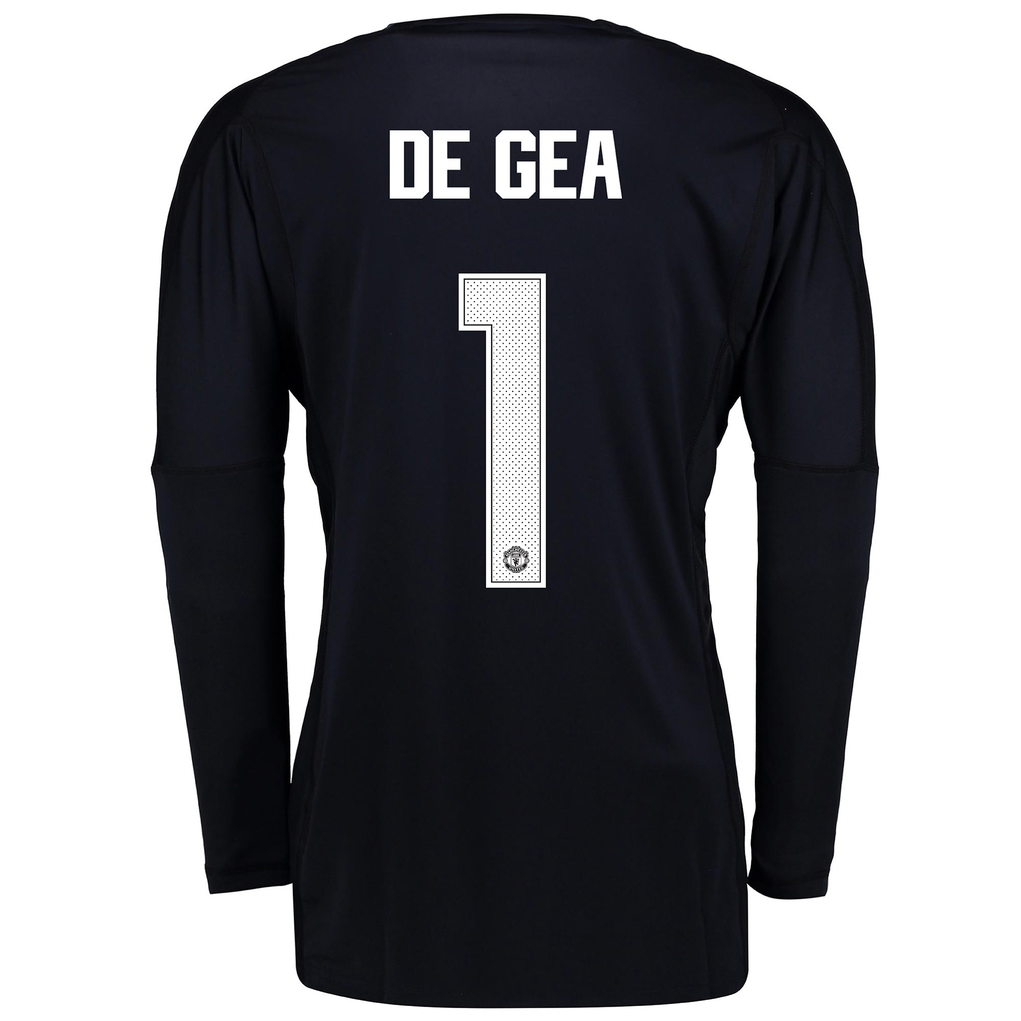 Manchester United Home Goalkeeper Cup Shirt 2017-18 - Kids with De Gea