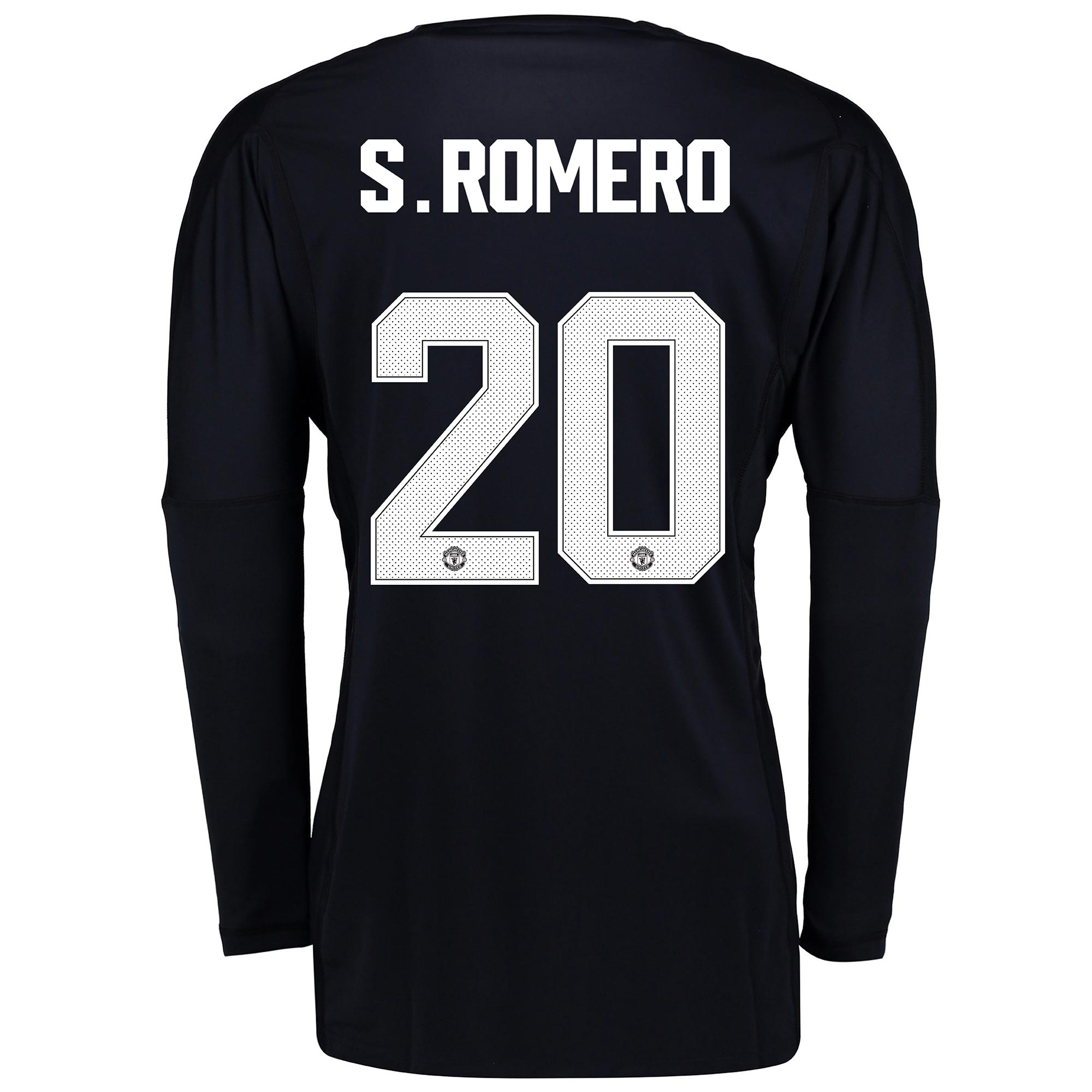 Manchester United Home Goalkeeper Cup Shirt 2017-18 - Kids with S.Rome