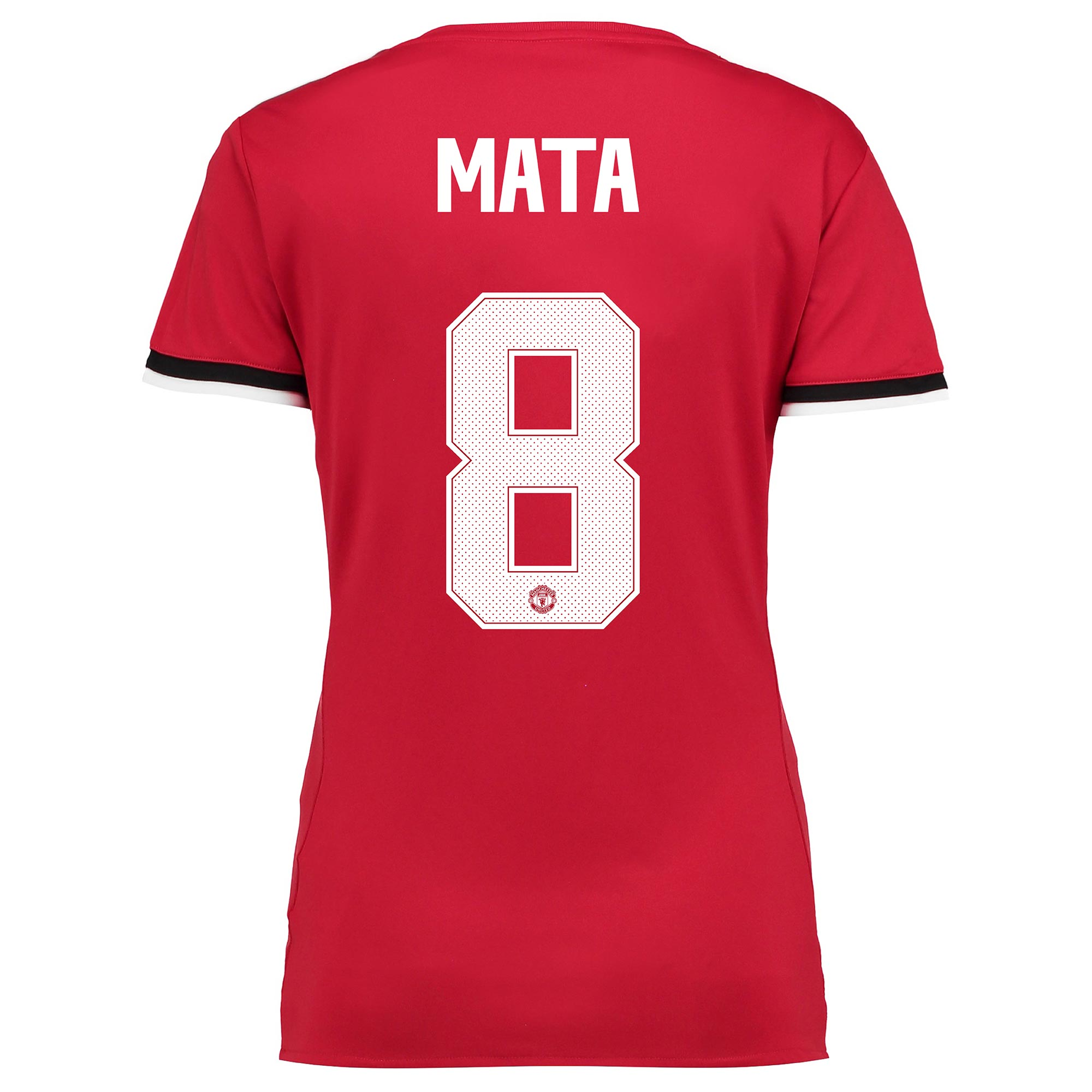 Manchester United Home Cup Shirt 2017-18 - Womens with Mata 8 printing
