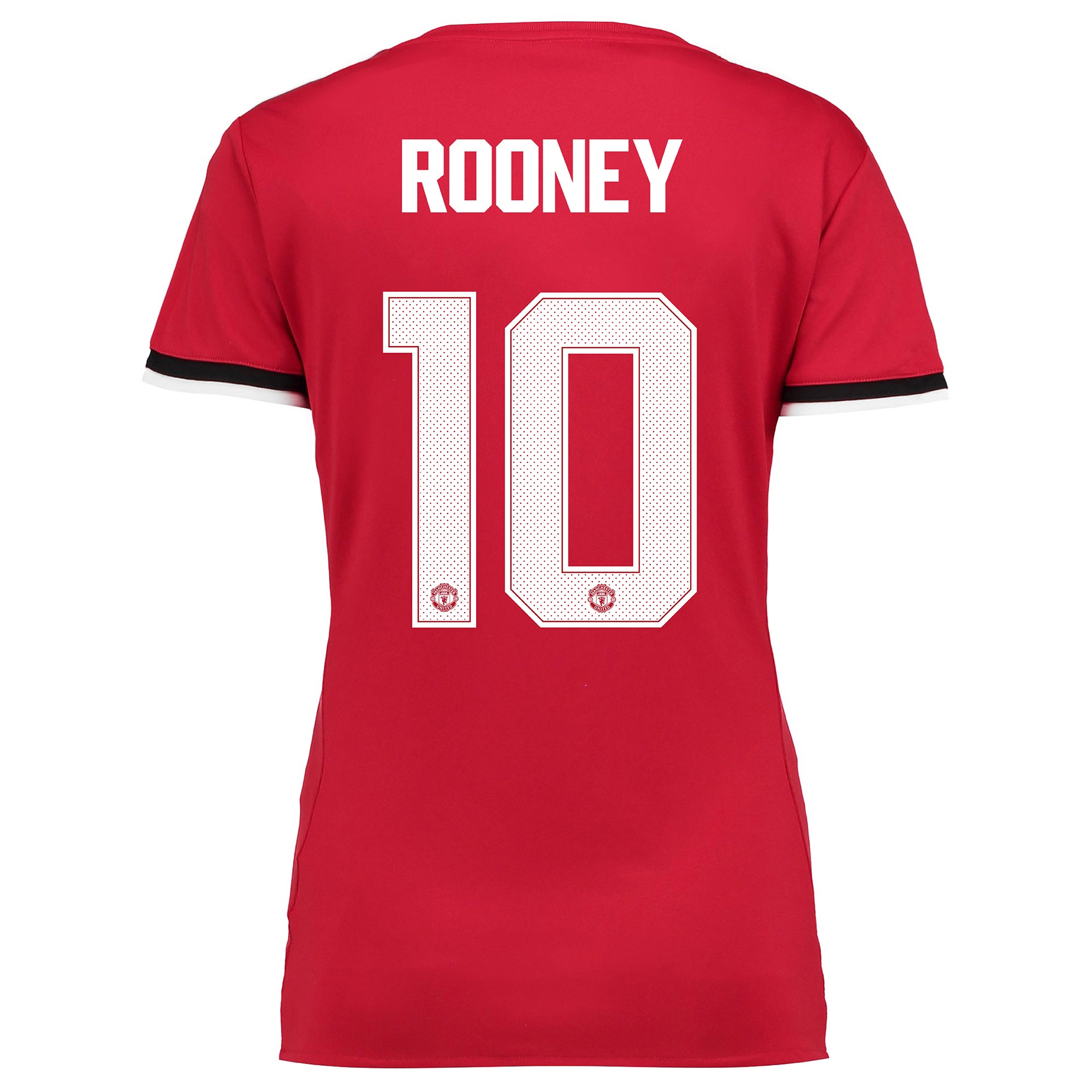 Manchester United Home Cup Shirt 2017-18 - Womens with Rooney 10 print