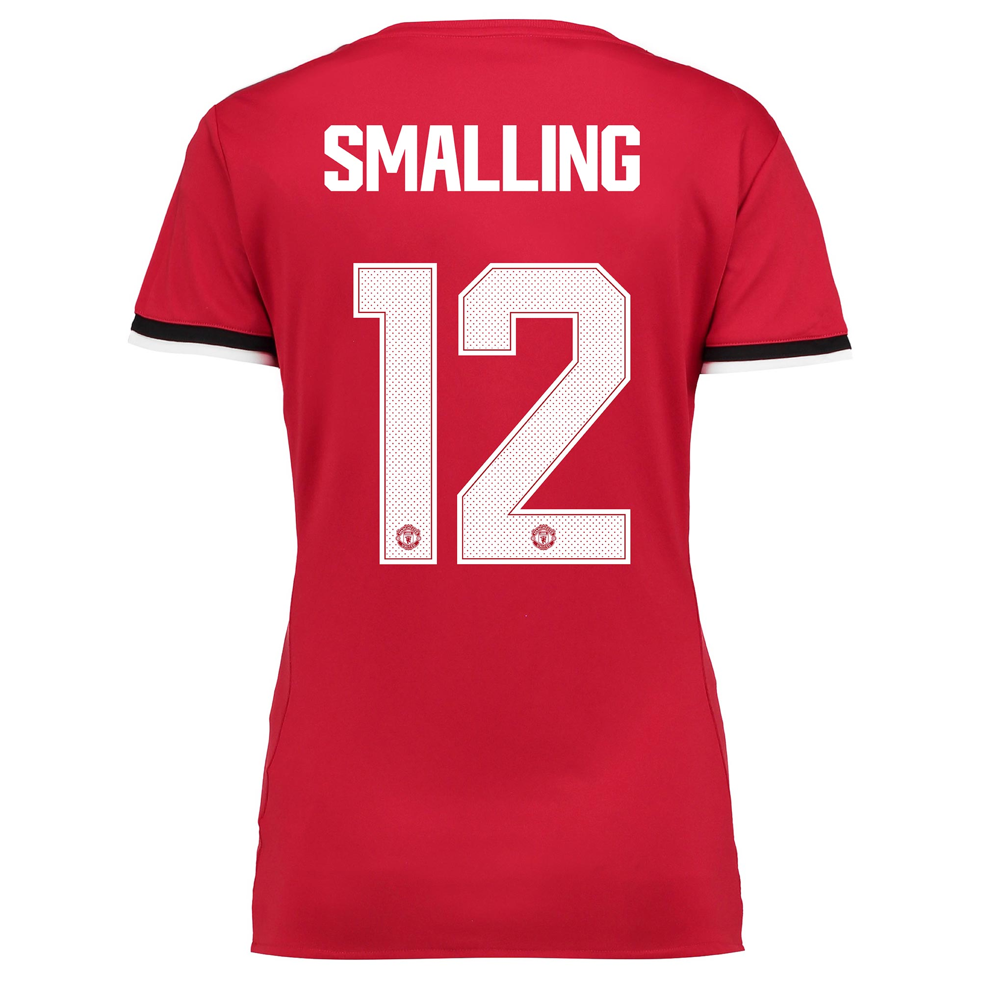 Manchester United Home Cup Shirt 2017-18 - Womens with Smalling 12 pri