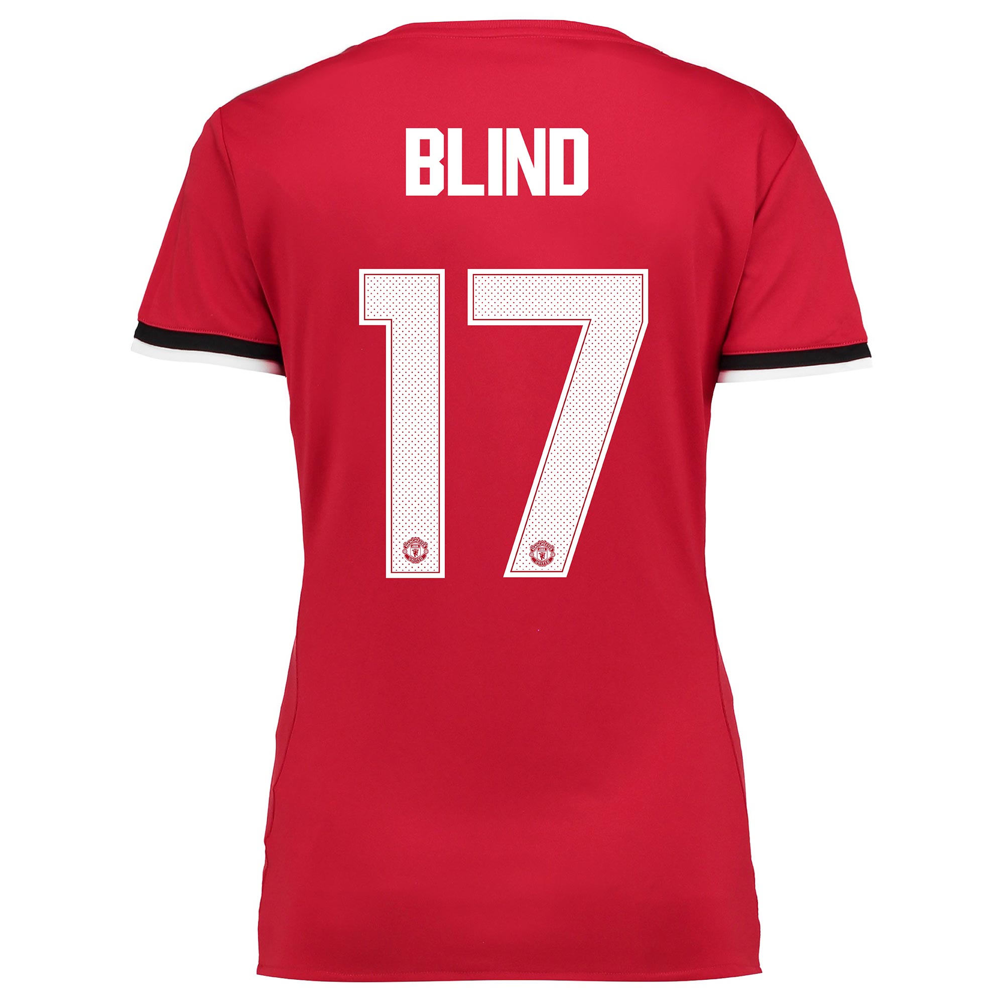 Manchester United Home Cup Shirt 2017-18 - Womens with Blind 17 printi