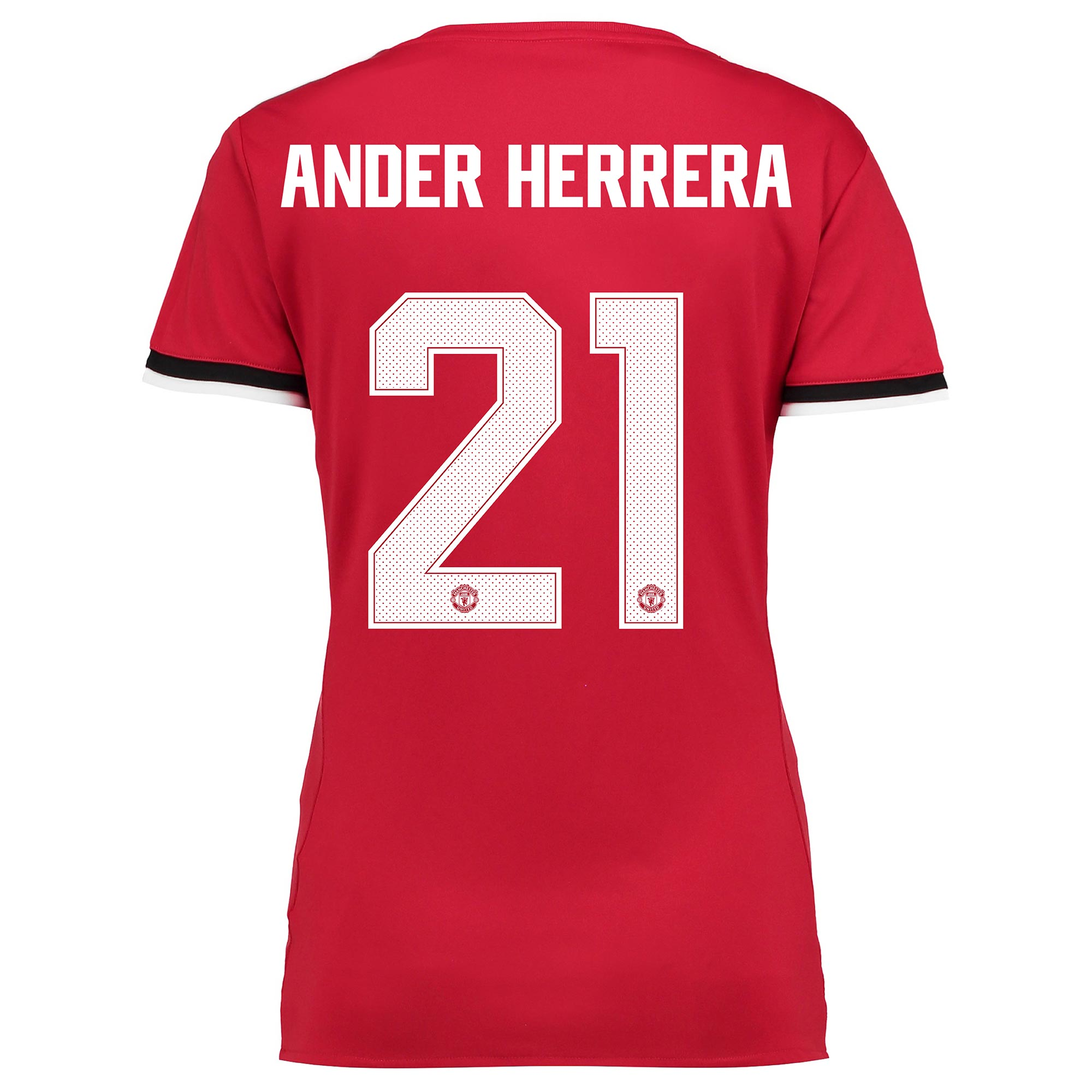 Manchester United Home Cup Shirt 2017-18 - Womens with Ander Herrera 2