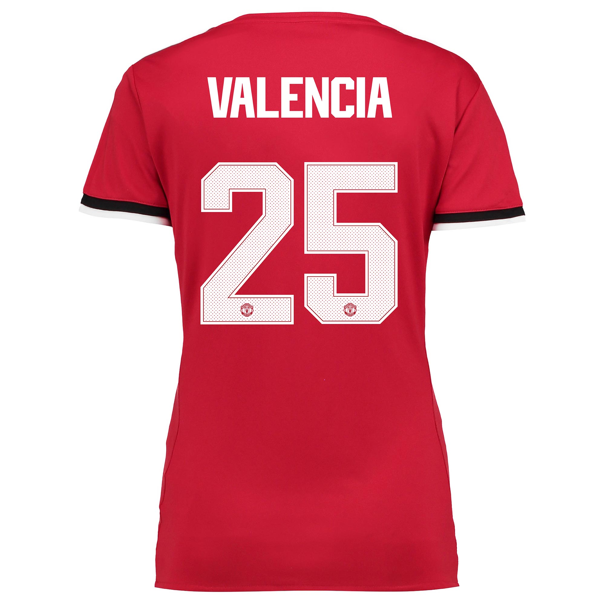 Manchester United Home Cup Shirt 2017-18 - Womens with Valencia 25 pri