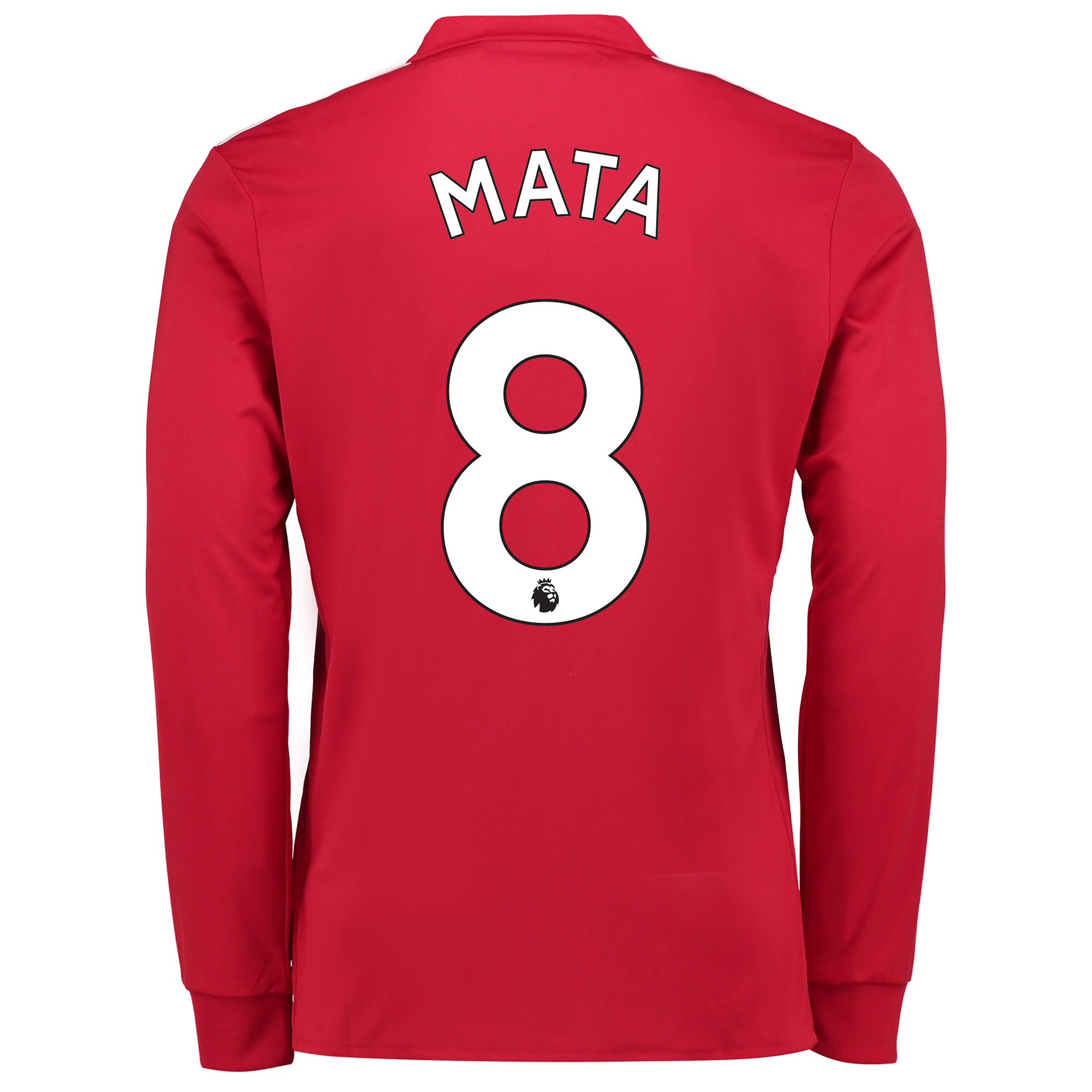 Manchester United Home Shirt 2017-18 - Long Sleeve with Mata 8 printin