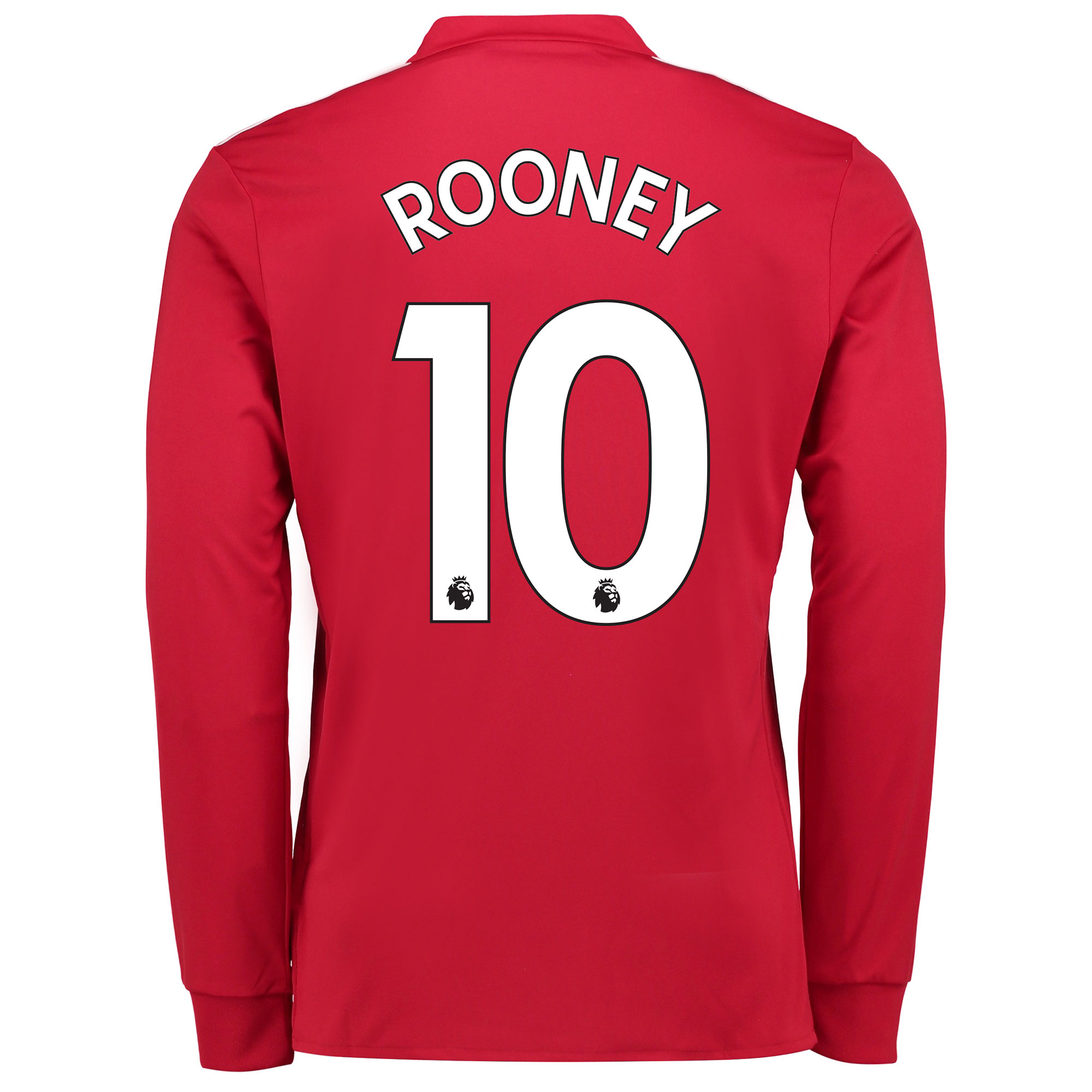Manchester United Home Shirt 2017-18 - Long Sleeve with Rooney 10 prin