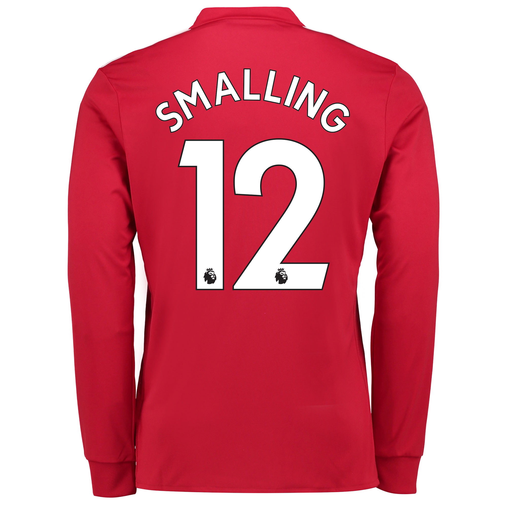 Manchester United Home Shirt 2017-18 - Long Sleeve with Smalling 12 pr