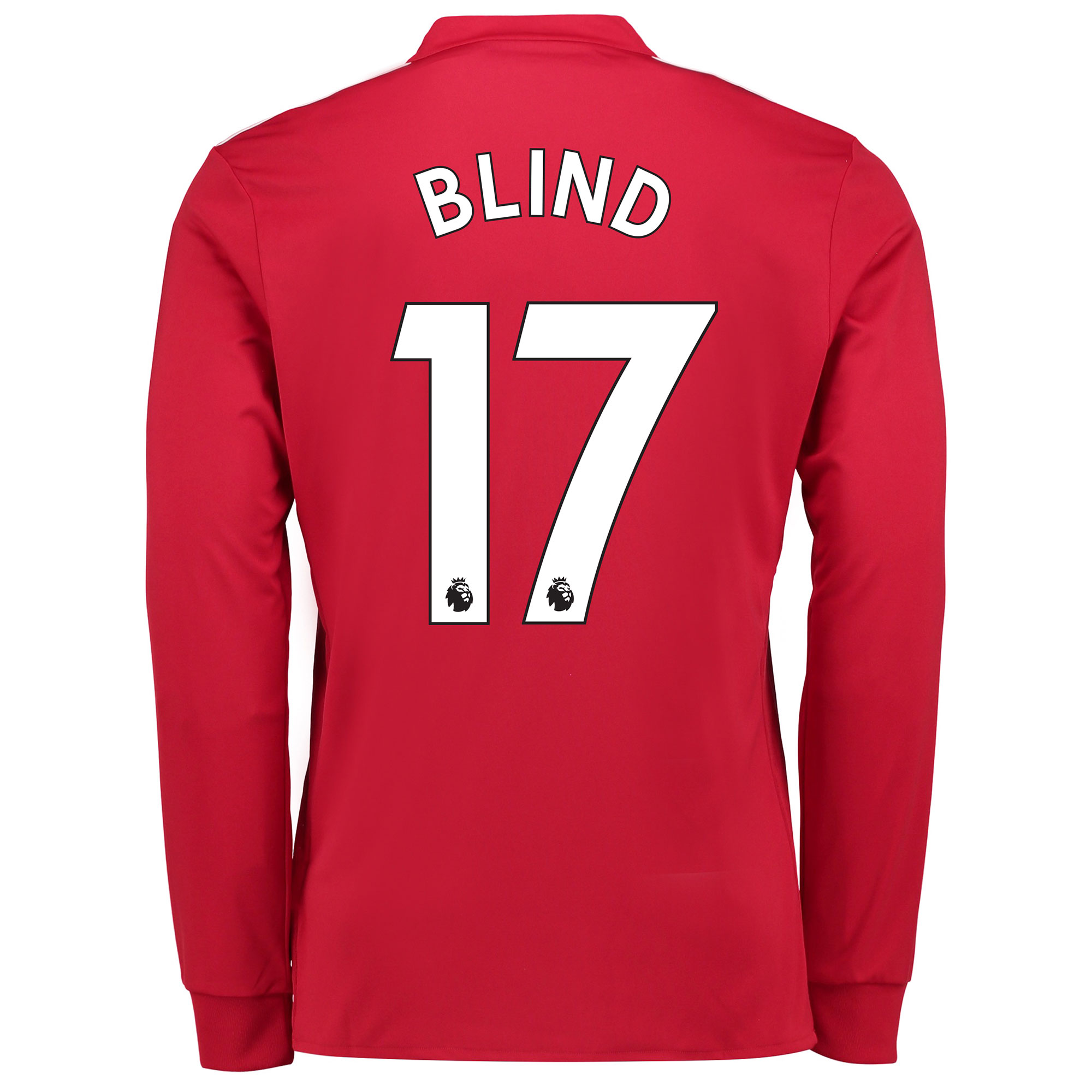Manchester United Home Shirt 2017-18 - Long Sleeve with Blind 17 print
