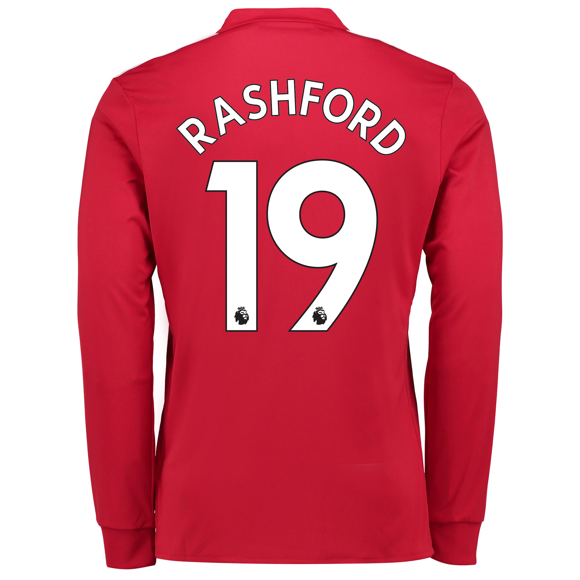 Manchester United Home Shirt 2017-18 - Long Sleeve with Rashford 19 pr