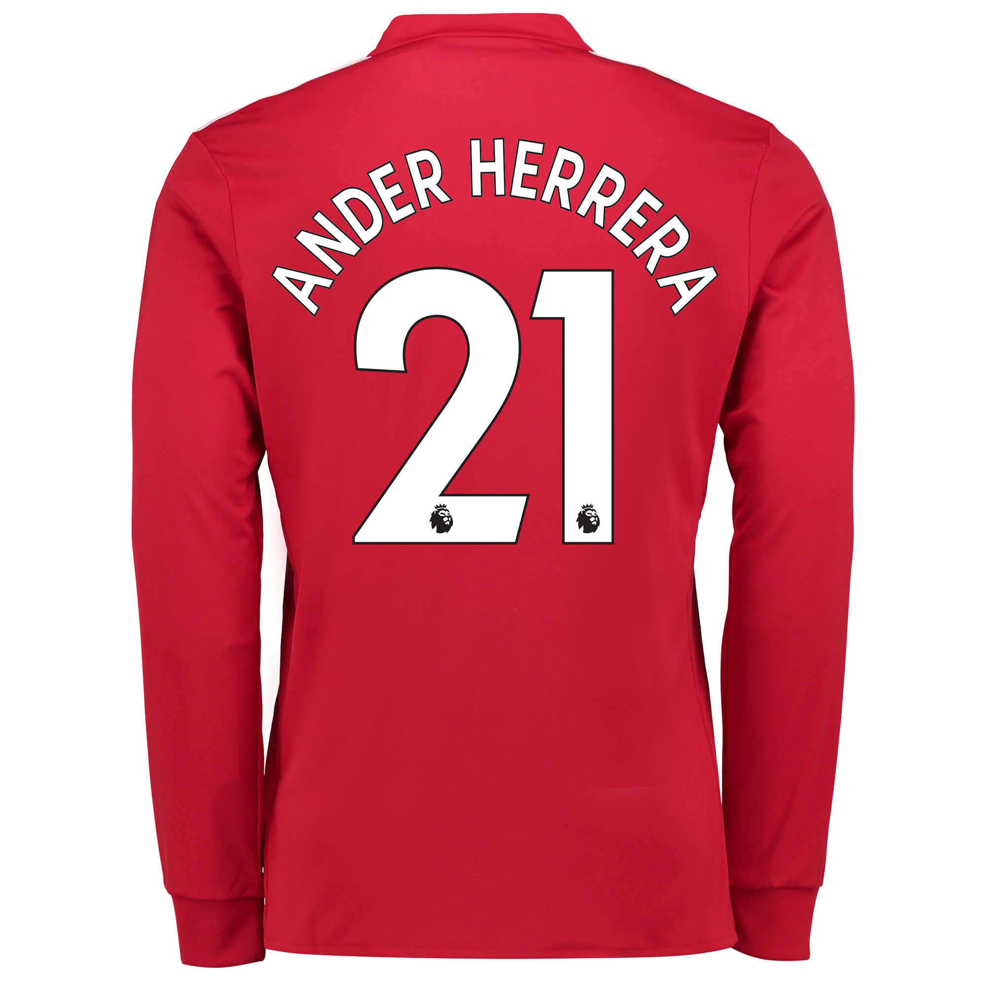 Manchester United Home Shirt 2017-18 - Long Sleeve with Ander Herrera