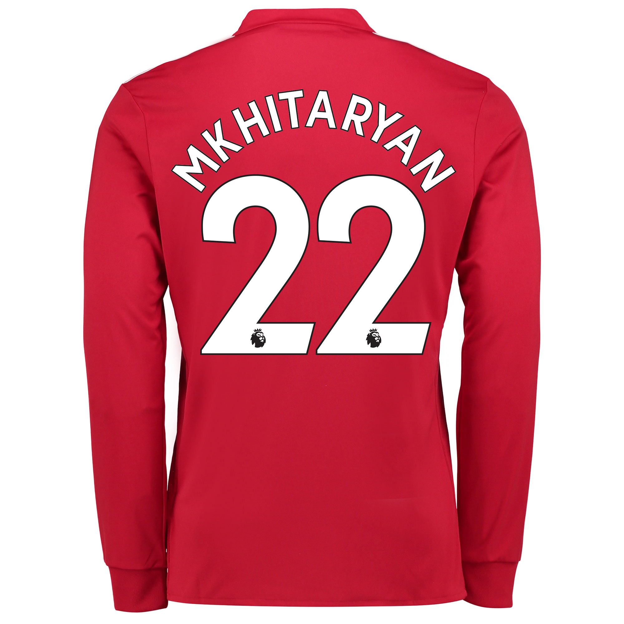 Manchester United Home Shirt 2017-18 - Long Sleeve with Mkhitaryan 22
