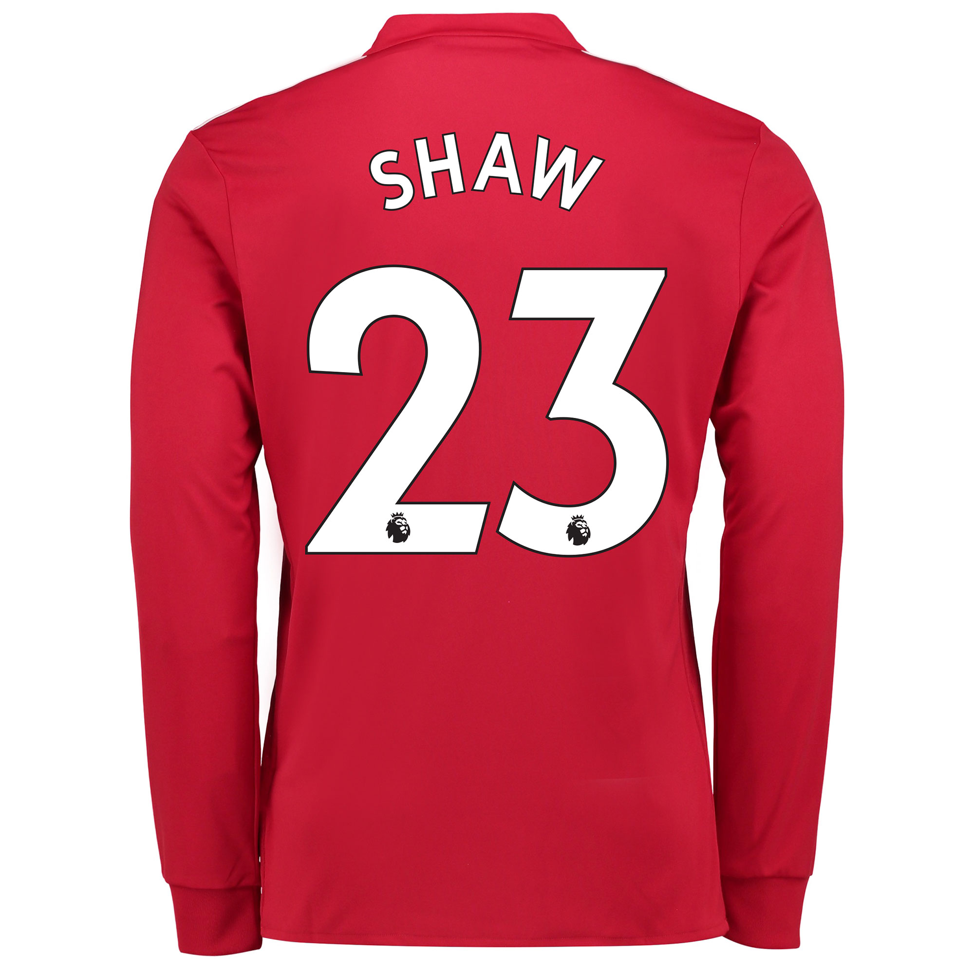Manchester United Home Shirt 2017-18 - Long Sleeve with Shaw 23 printi