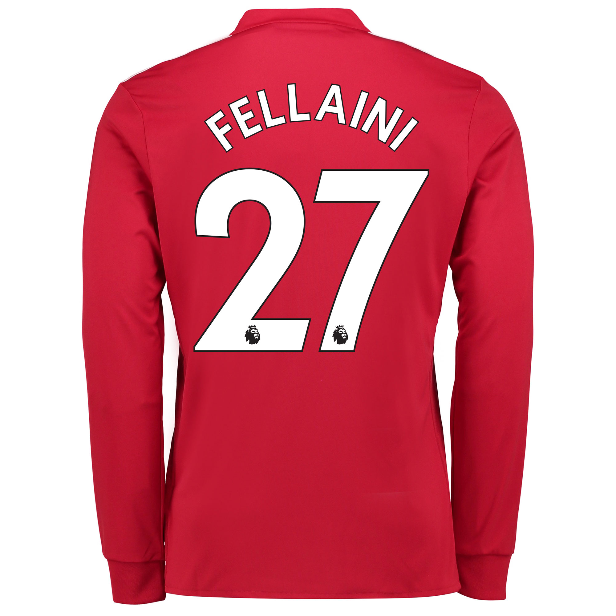 Manchester United Home Shirt 2017-18 - Long Sleeve with Fellaini 27 pr