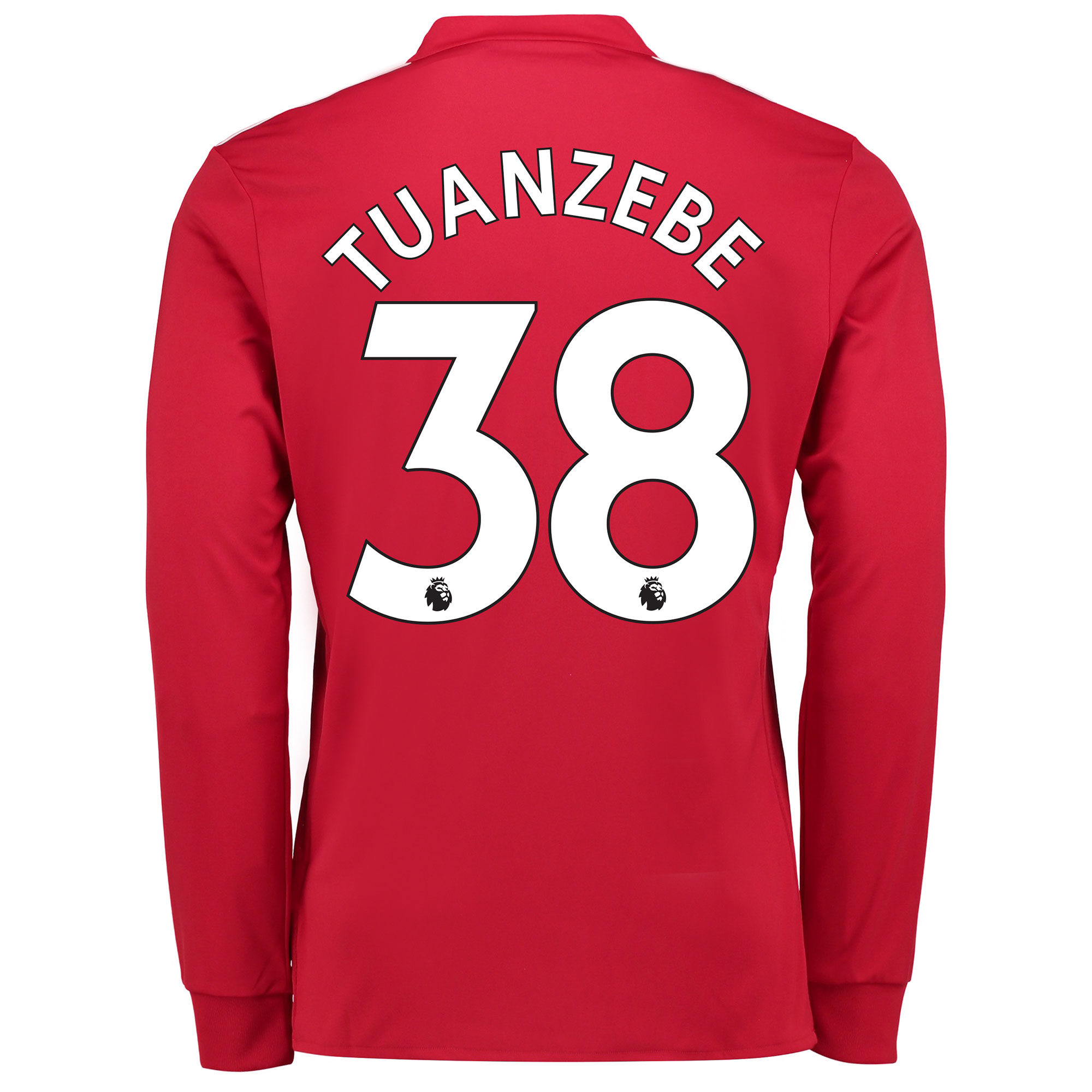 Manchester United Home Shirt 2017-18 - Long Sleeve with Tuanzebe 38 pr
