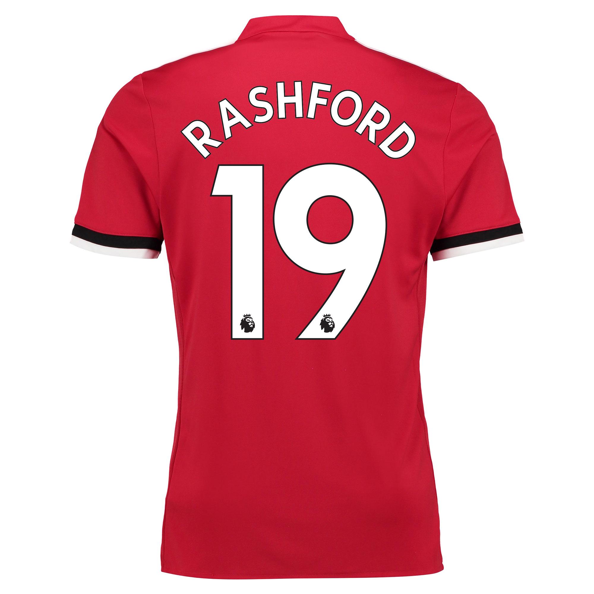 Manchester United Home Shirt 2017-18 - Kids with Rashford 19 printing
