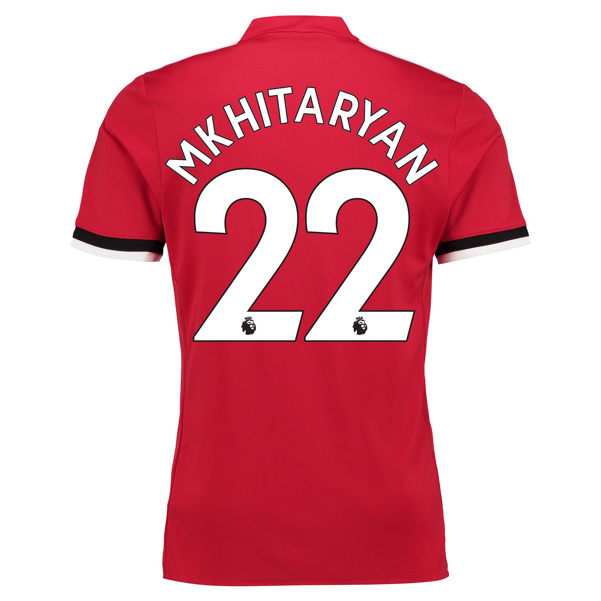 Manchester United Home Shirt 2017-18 - Kids with Mkhitaryan 22 printin