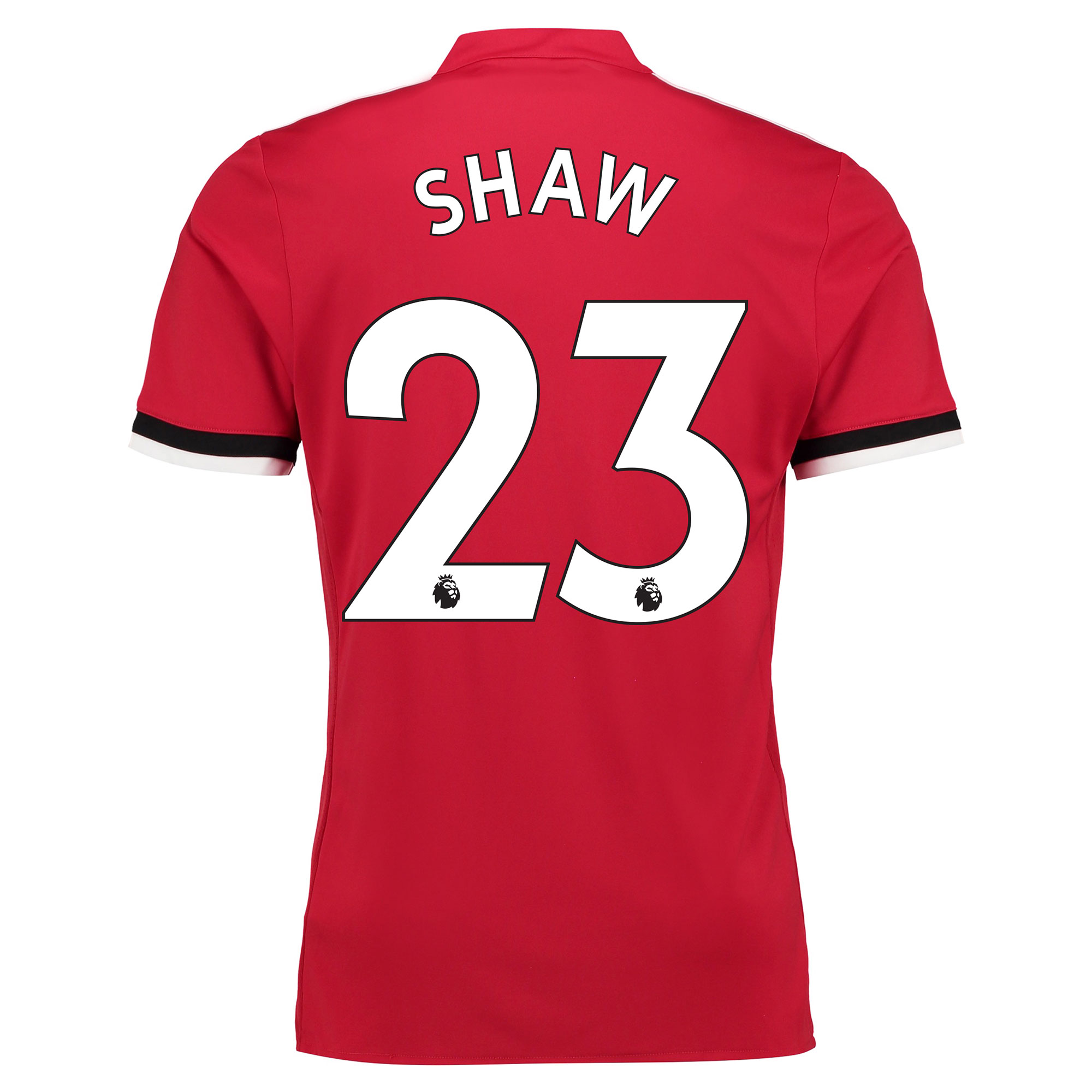 Manchester United Home Shirt 2017-18 - Kids with Shaw 23 printing