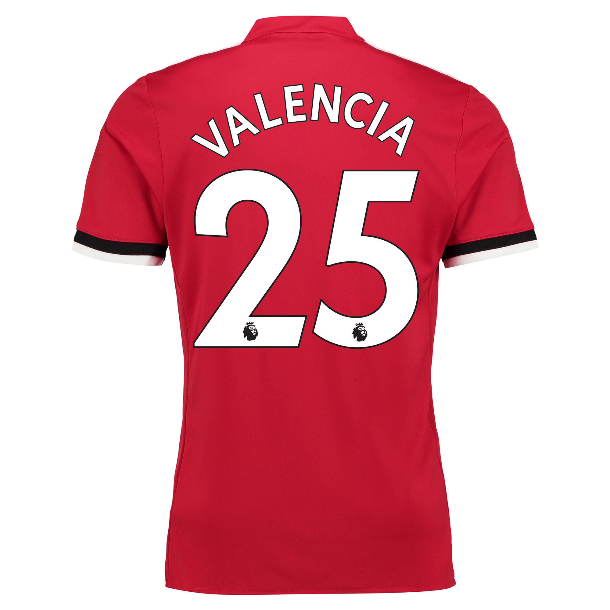 Manchester United Home Shirt 2017-18 - Kids with Valencia 25 printing