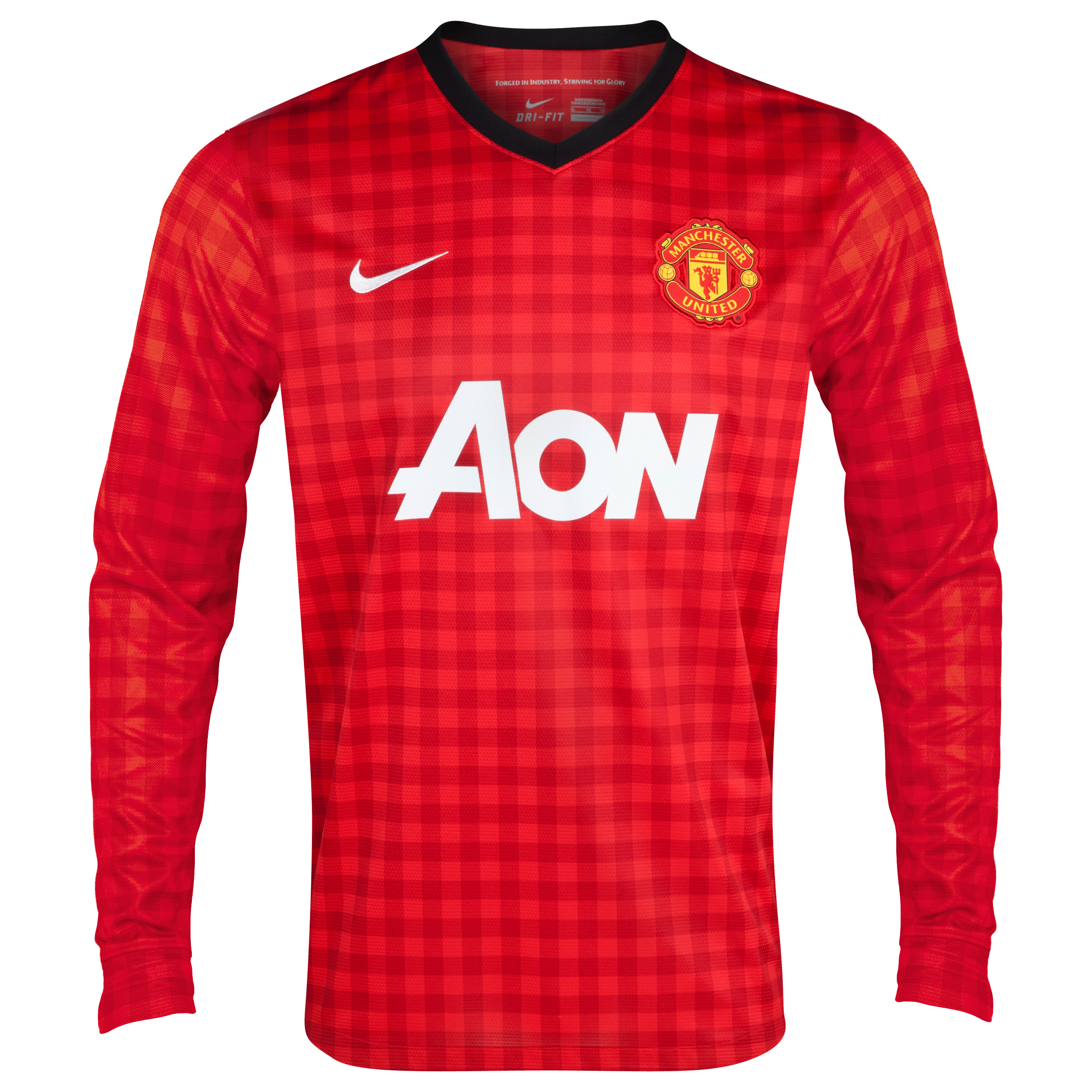 Manchester United Home Shirt 2012/13 - Long Sleeved  - Kids