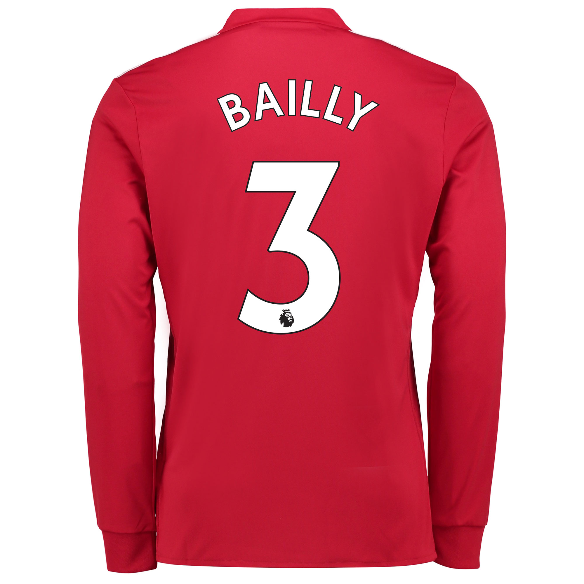 Manchester United Home Shirt 2017-18 - Kids - Long Sleeve with Bailly