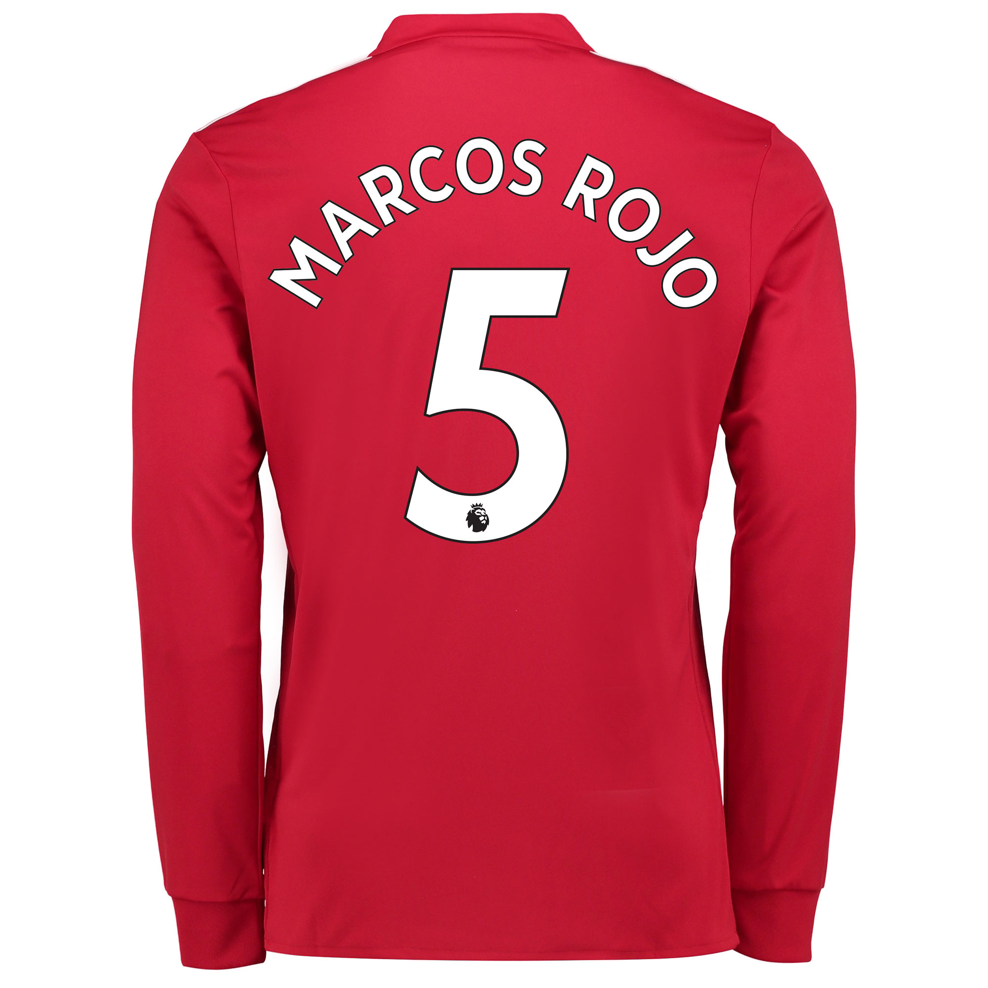 Manchester United Home Shirt 2017-18 - Kids - Long Sleeve with Marcos
