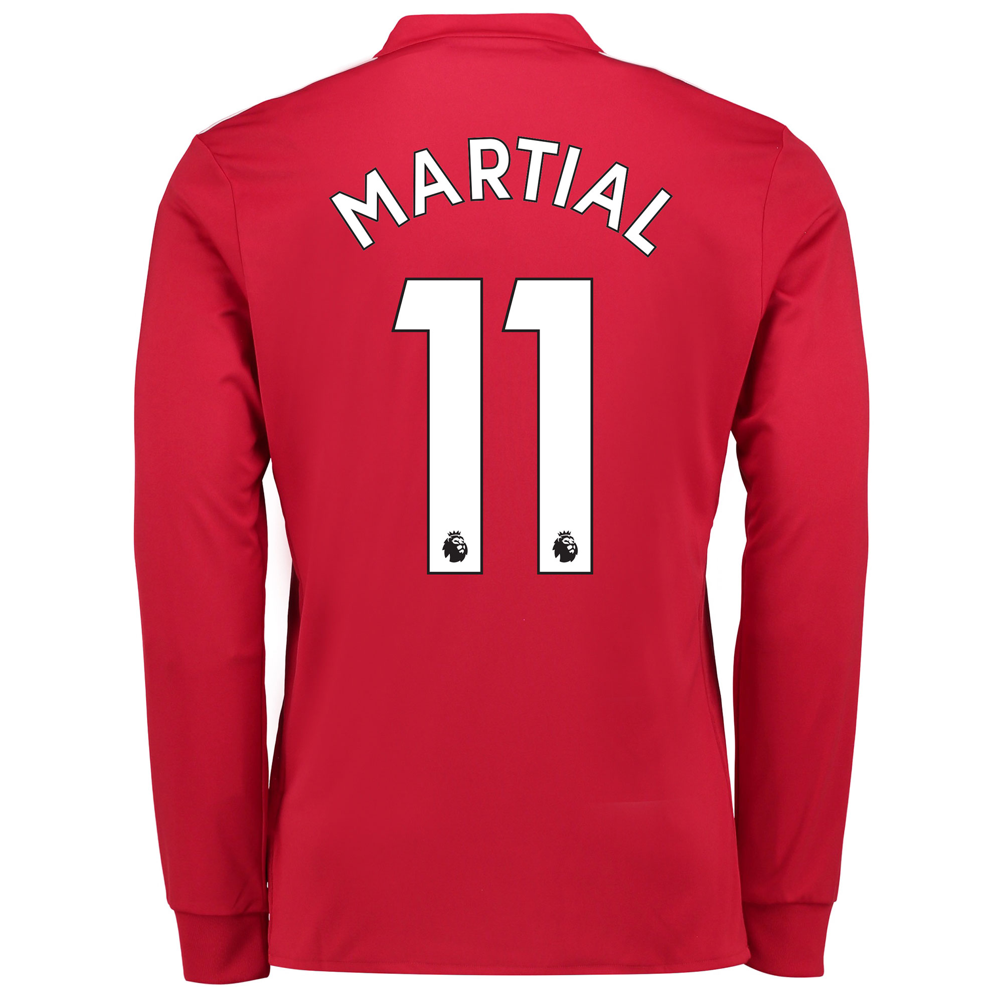 Manchester United Home Shirt 2017-18 - Kids - Long Sleeve with Martial