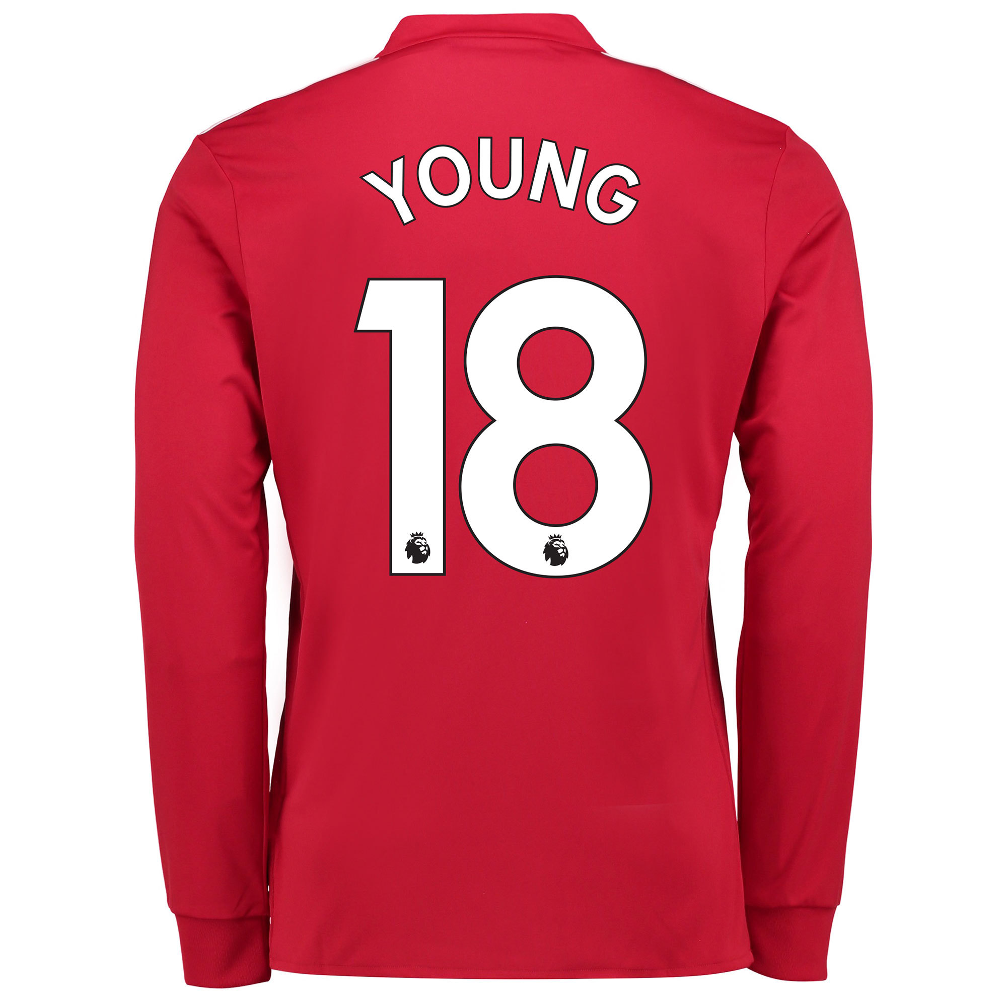 Manchester United Home Shirt 2017-18 - Kids - Long Sleeve with Young 1