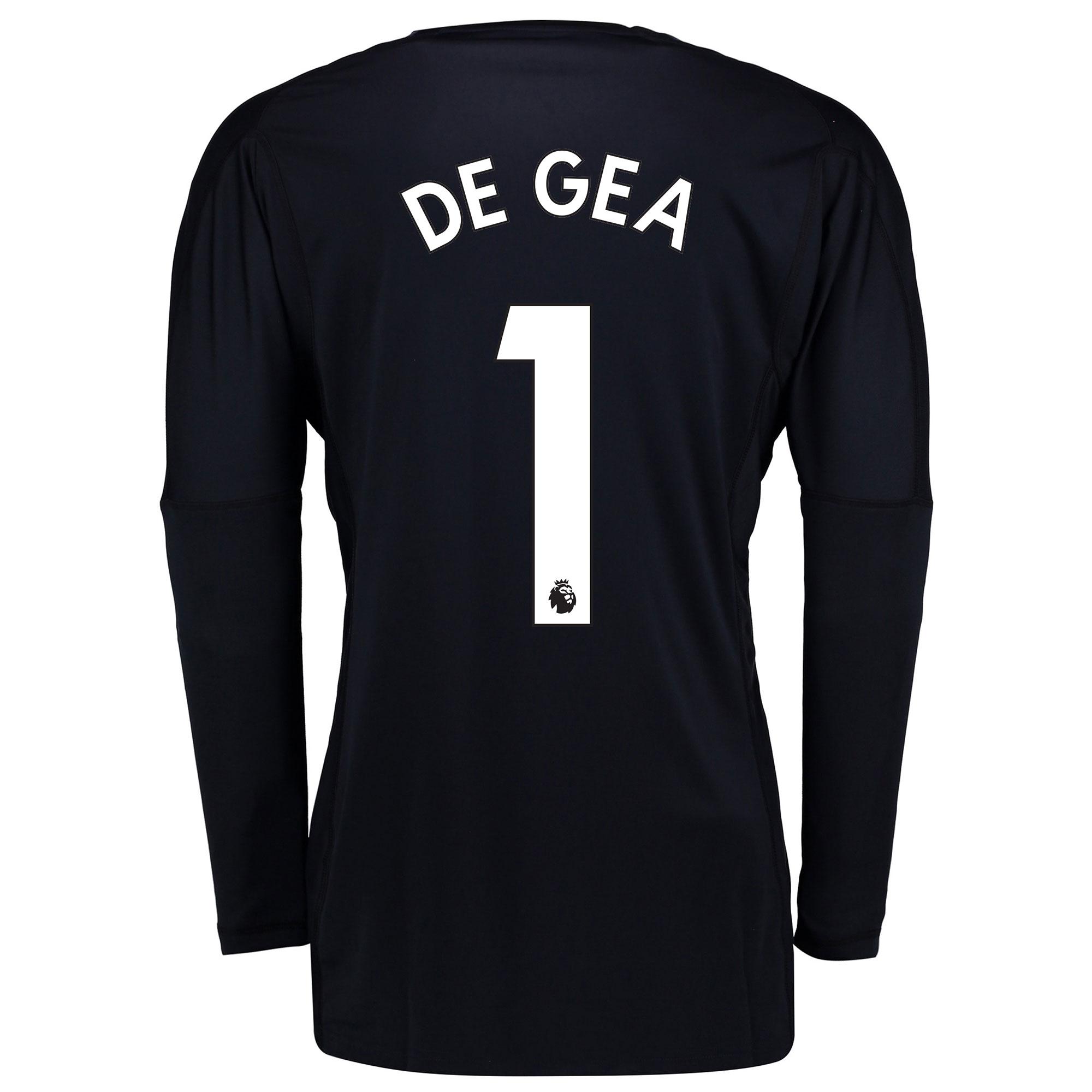 Manchester United Home Goalkeeper Shirt 2017-18 - Kids with De Gea 1 p