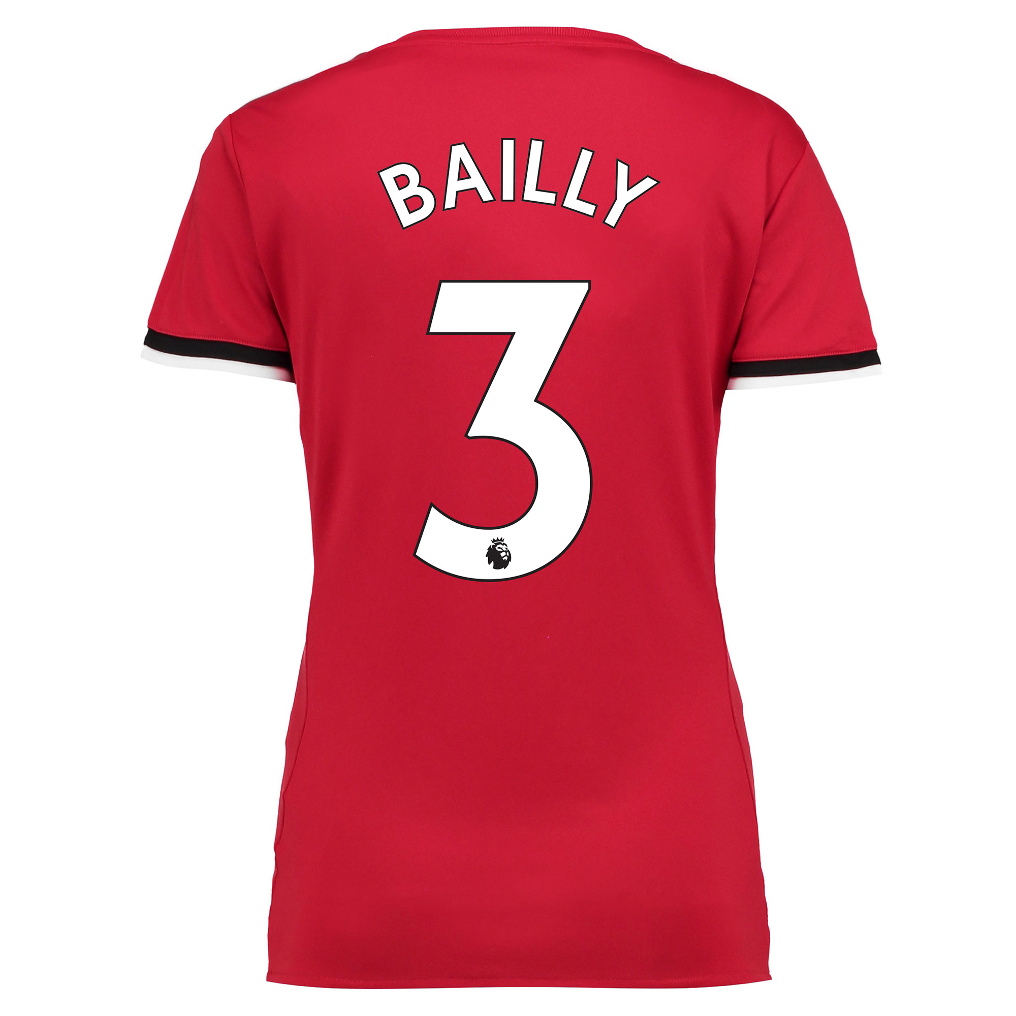 Manchester United Home Shirt 2017-18 - Womens with Bailly 3 printing