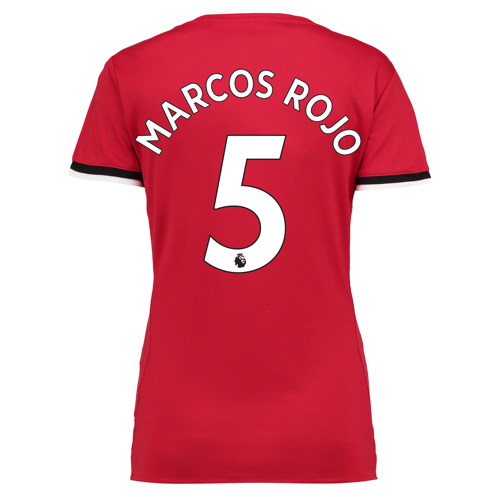 Manchester United Home Shirt 2017-18 - Womens with Marcos Rojo 5 print