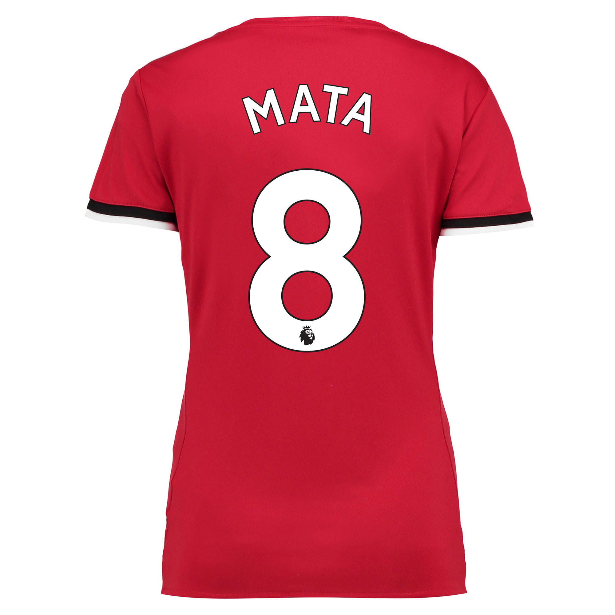 Manchester United Home Shirt 2017-18 - Womens with Mata 8 printing