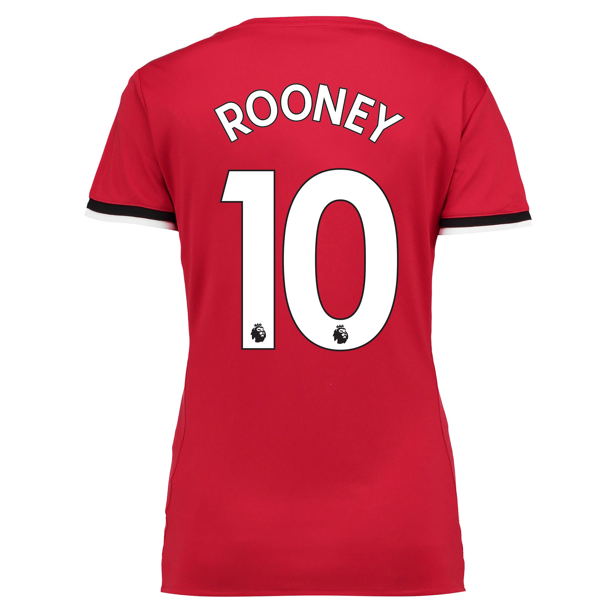Manchester United Home Shirt 2017-18 - Womens with Rooney 10 printing