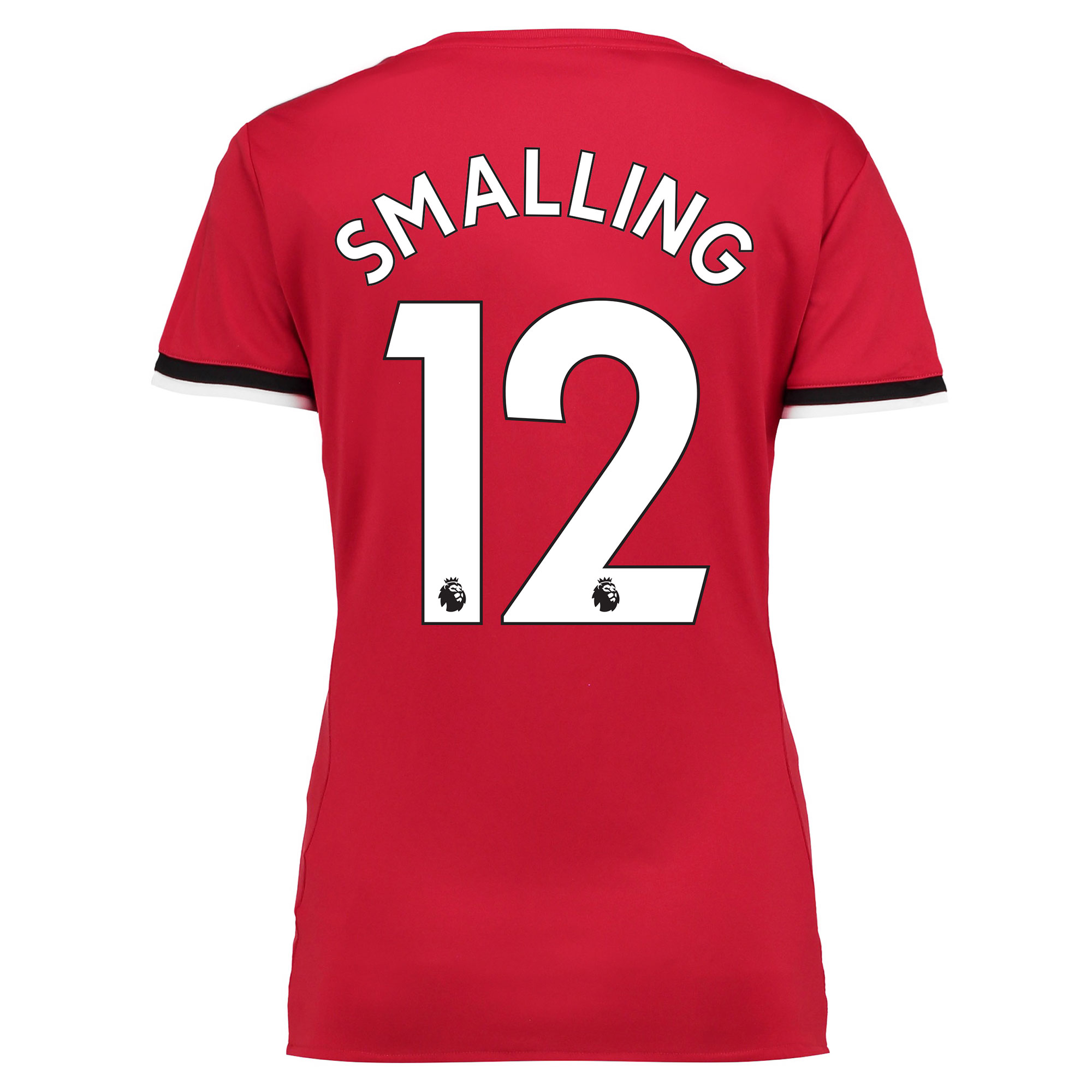 Manchester United Home Shirt 2017-18 - Womens with Smalling 12 printin